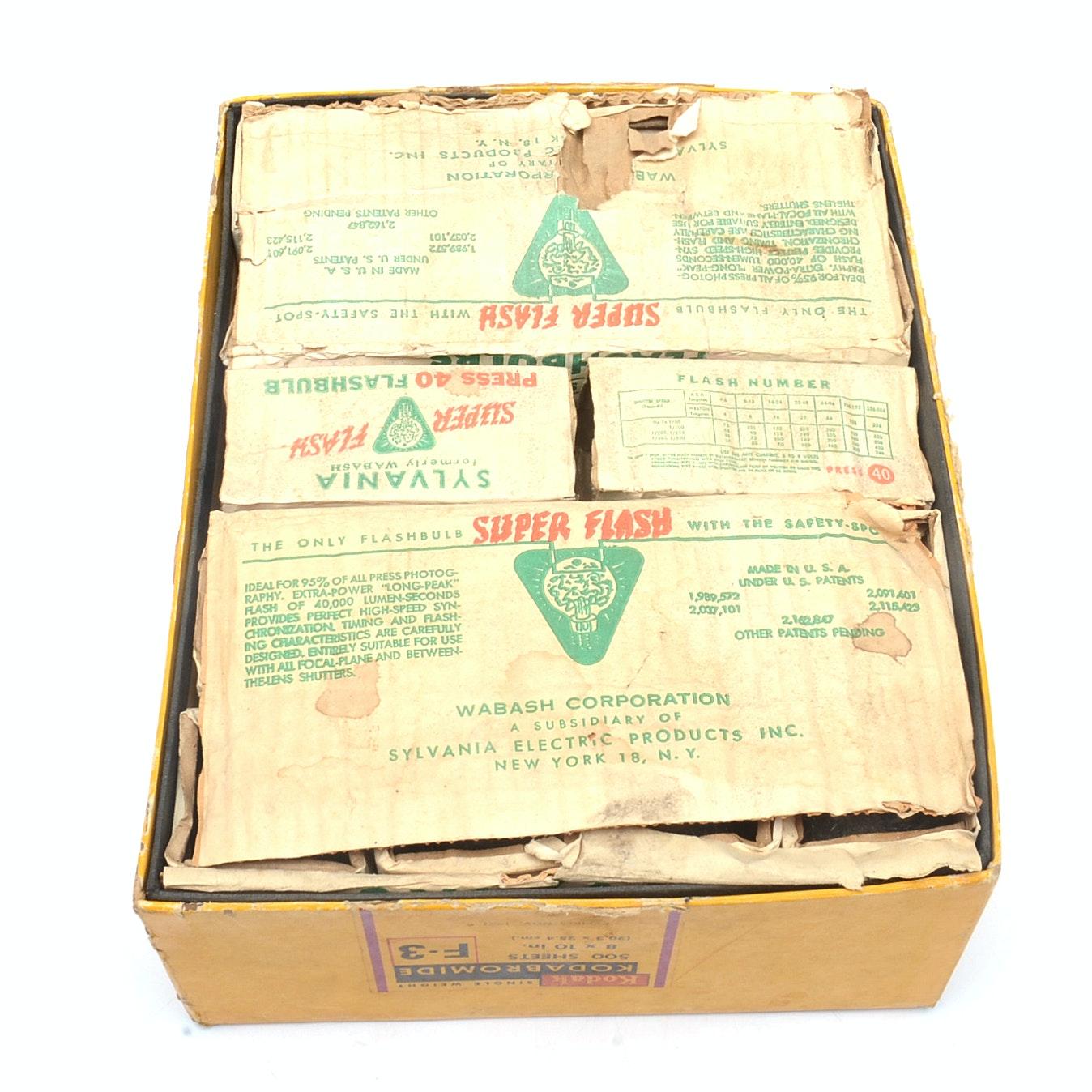 Collection Vintage Sylvania Press 40 Flash Bulbs