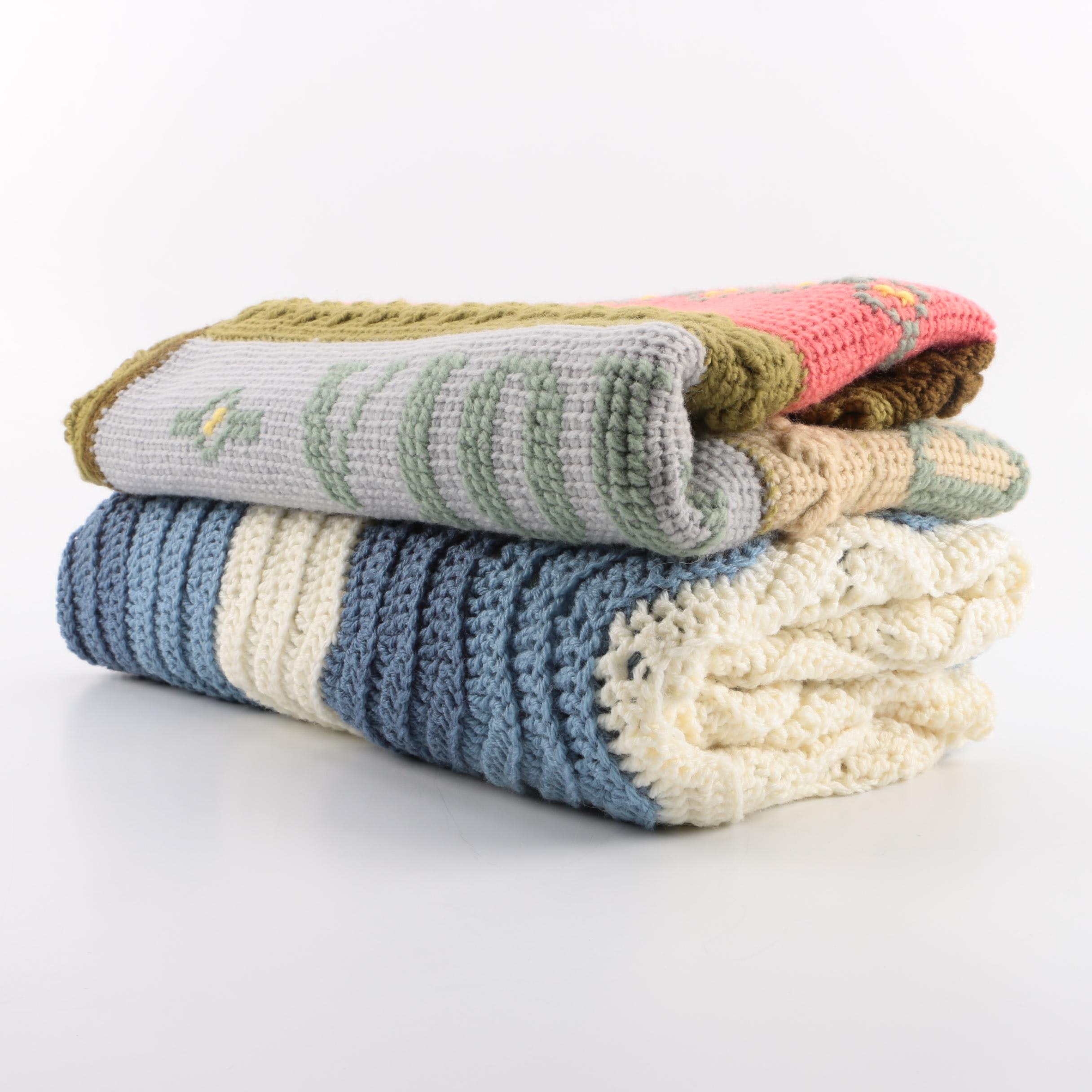 Hand Knit and Crocheted Blankets