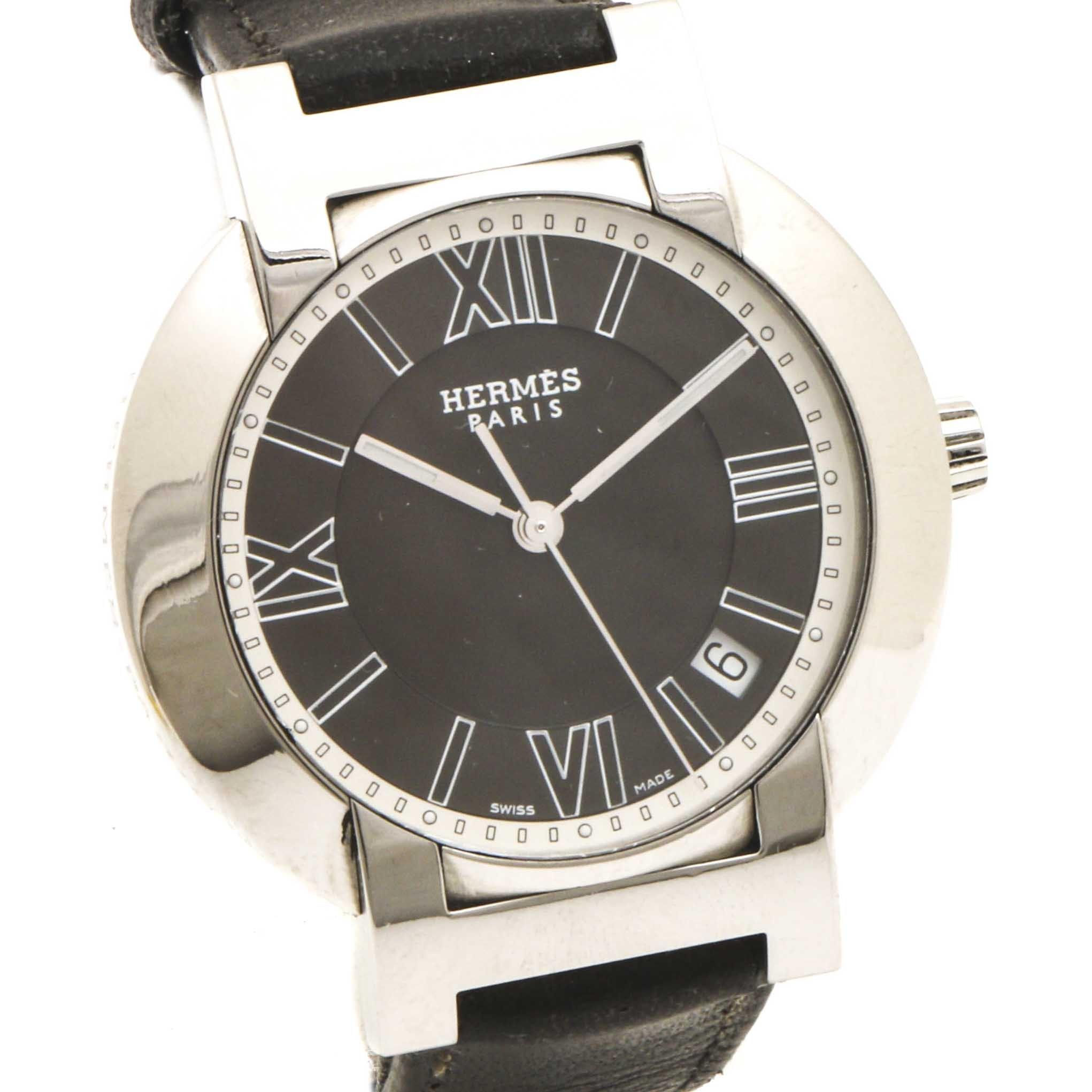Hermès Swiss Made Stainless Steel Wristwatch
