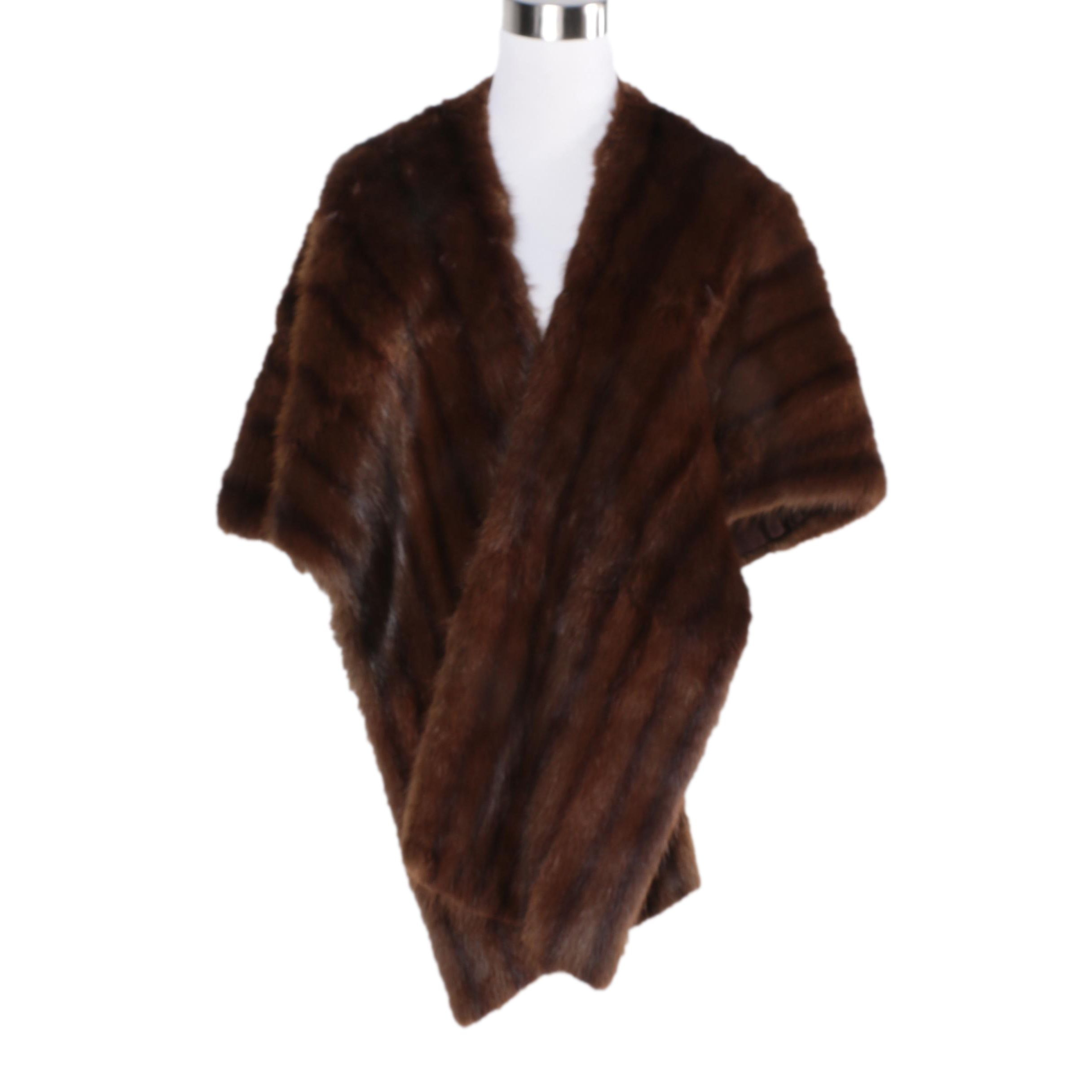 Vintage Dyed Marten Fur Stole