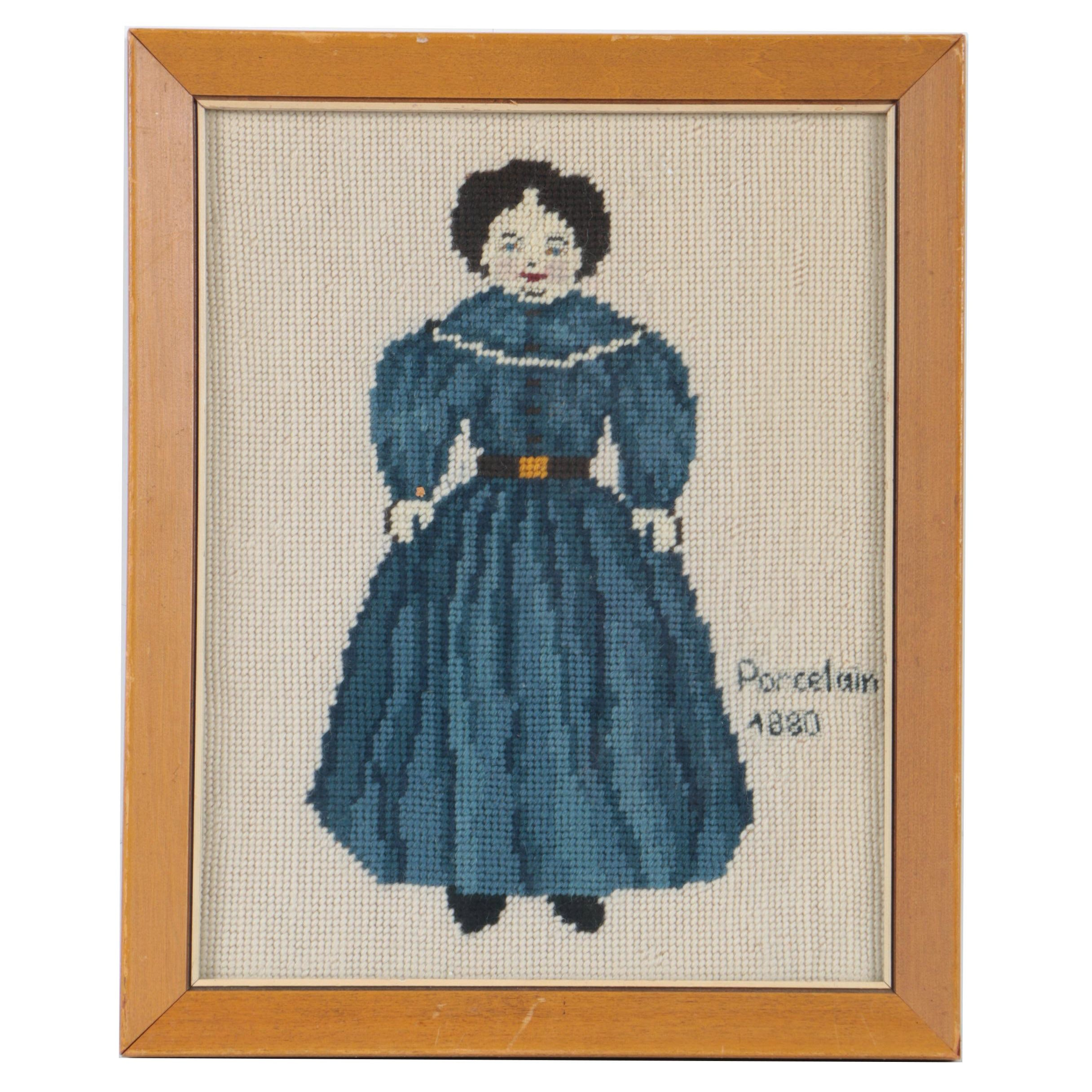 "Erma Hartman Needlepoint ""Porcelain 1880"""