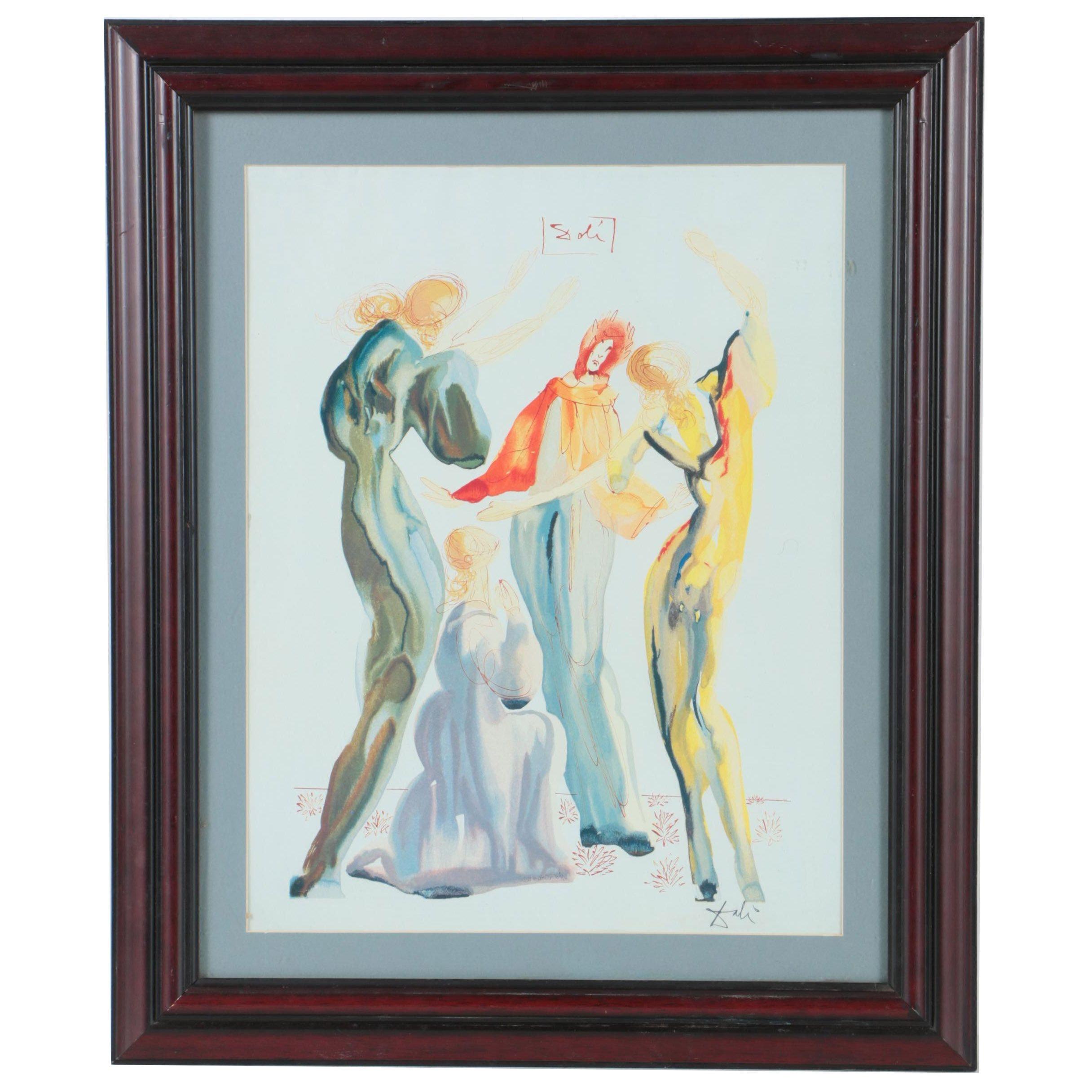 "Offset Lithograph After Salvador Dali ""La Danse"" from ""Divine Comedy"""