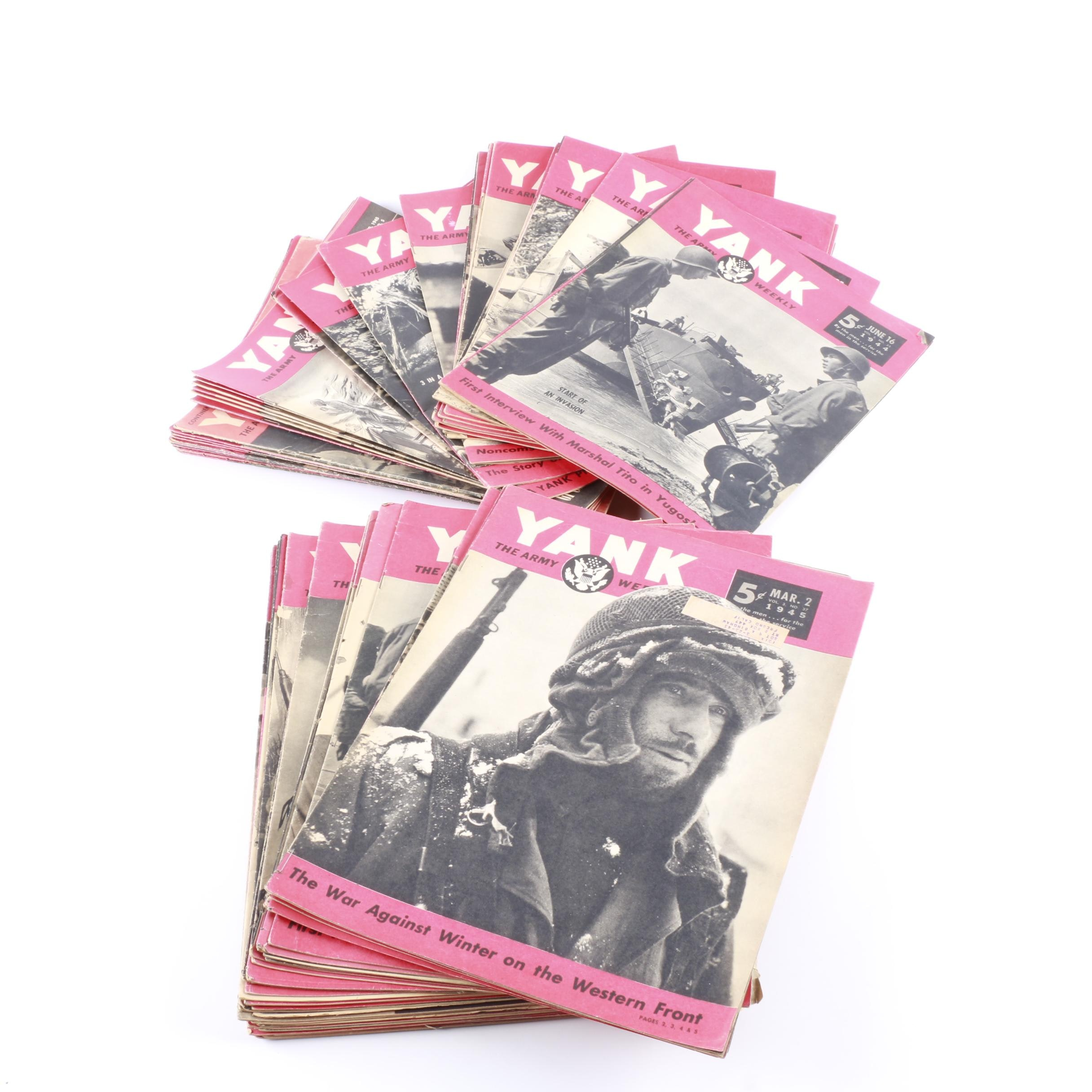 """Collection of 1940's """"Yank"""" Magazines"""