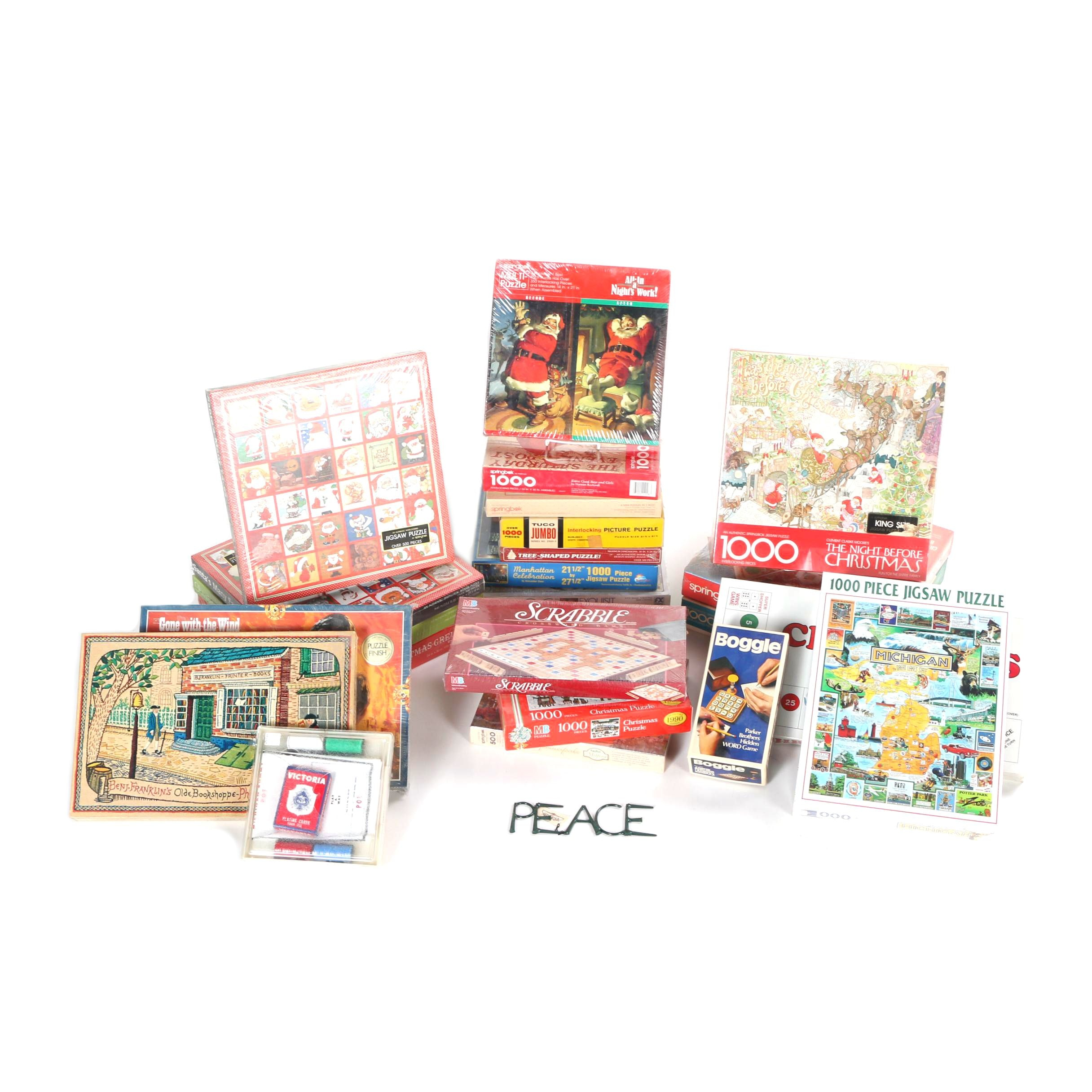 Assorted Board Games and Puzzles
