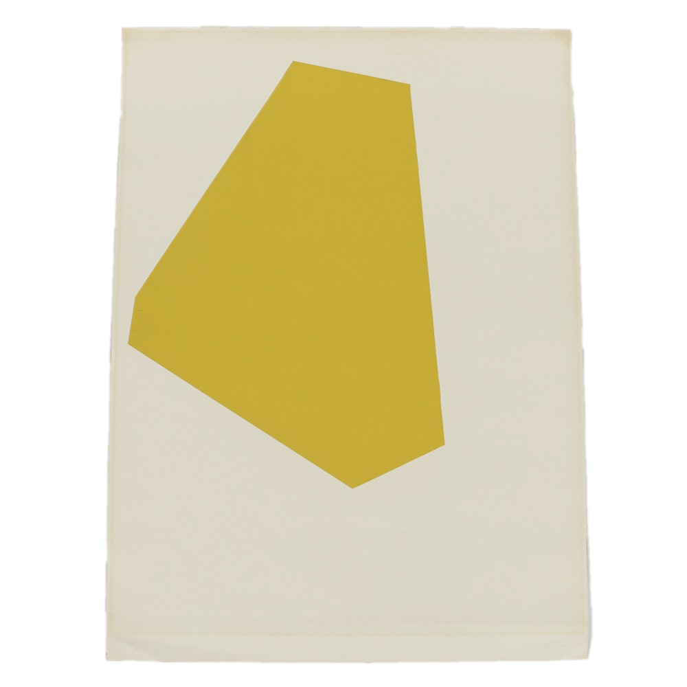 Robert Goodnough Lithograph on Paper Geometric Composition