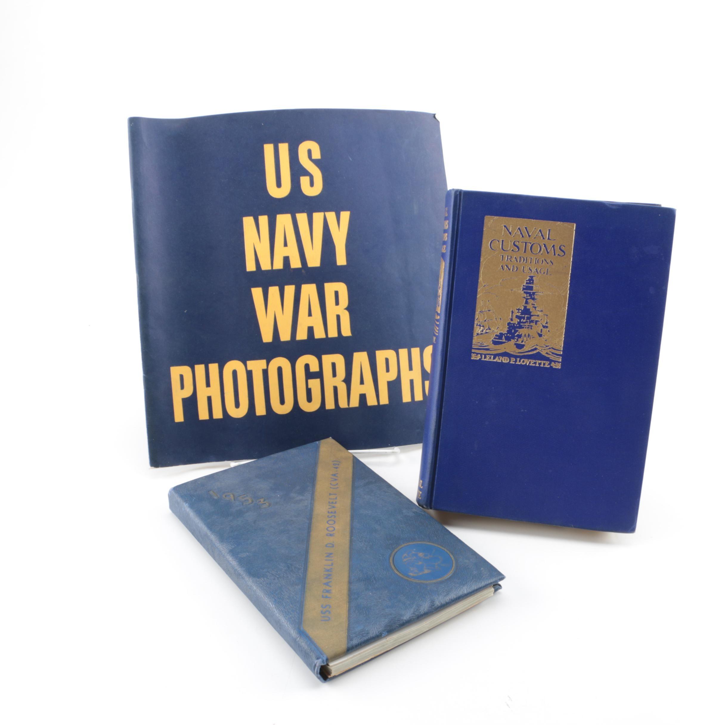 Vintage U.S. Navy Books