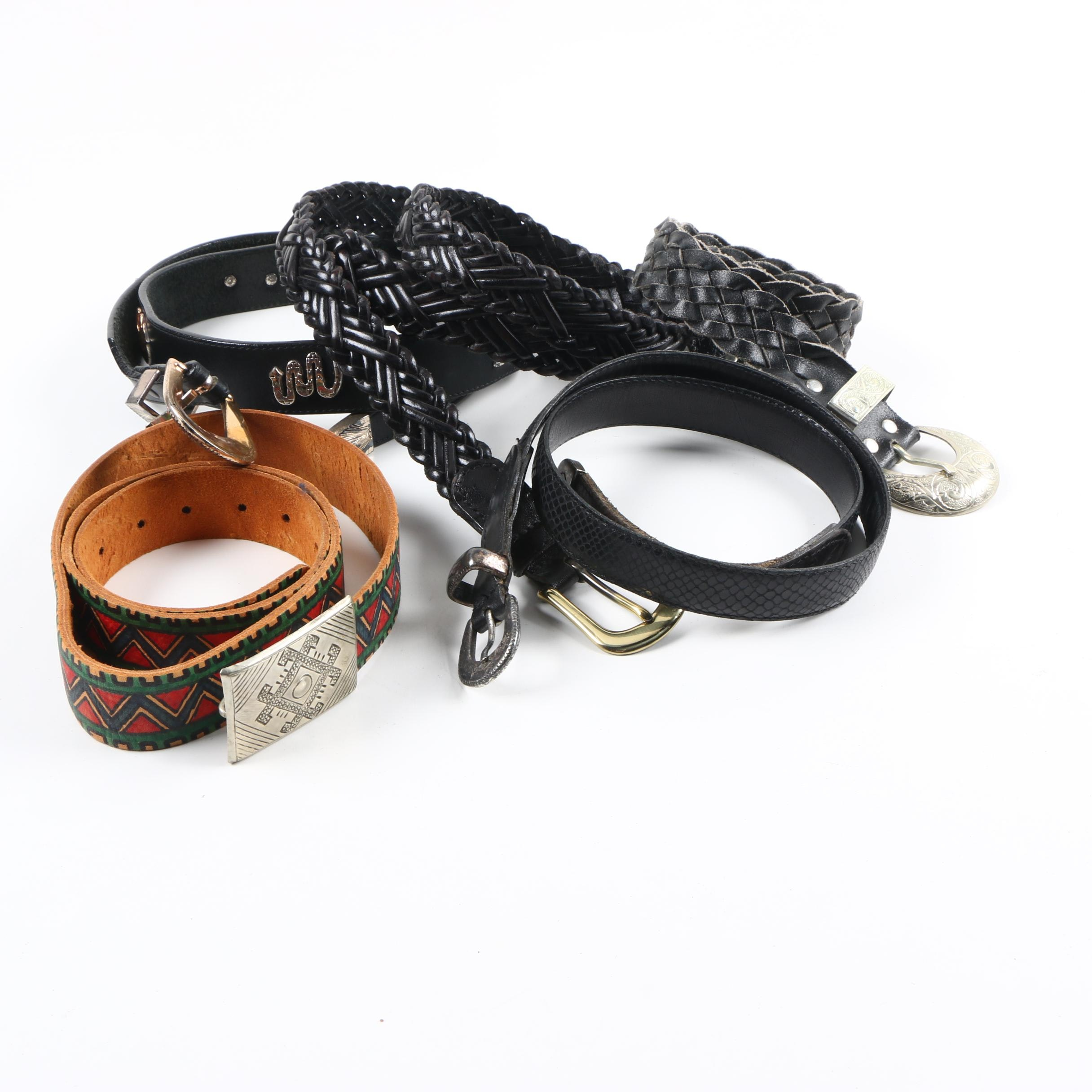 Assortment of Leather Belts