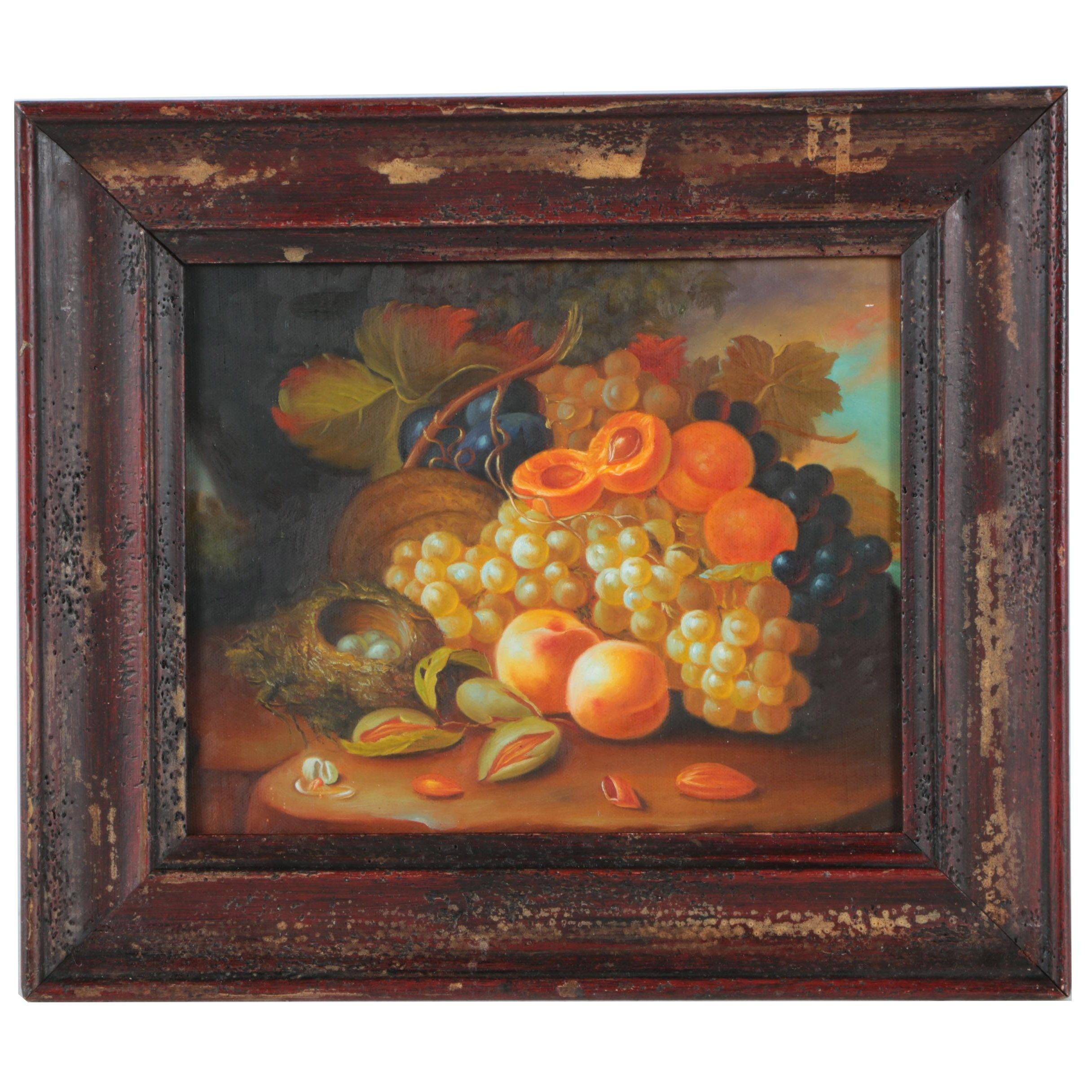 Copy Oil Painting on Canvas After George Forster Still Life