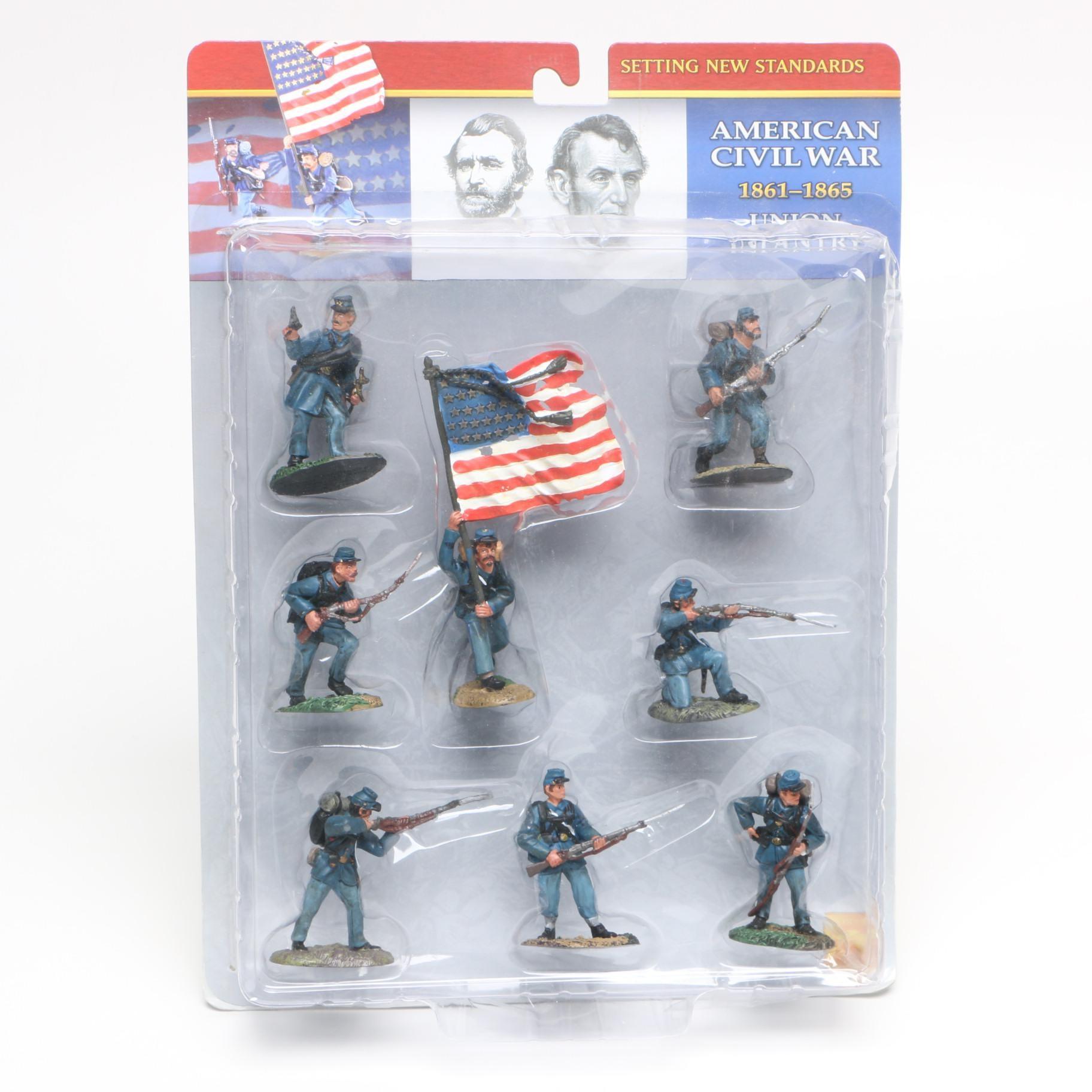 "Conté Collectibles ""Miniatures for the Ages"" Union Soldier Figurines"