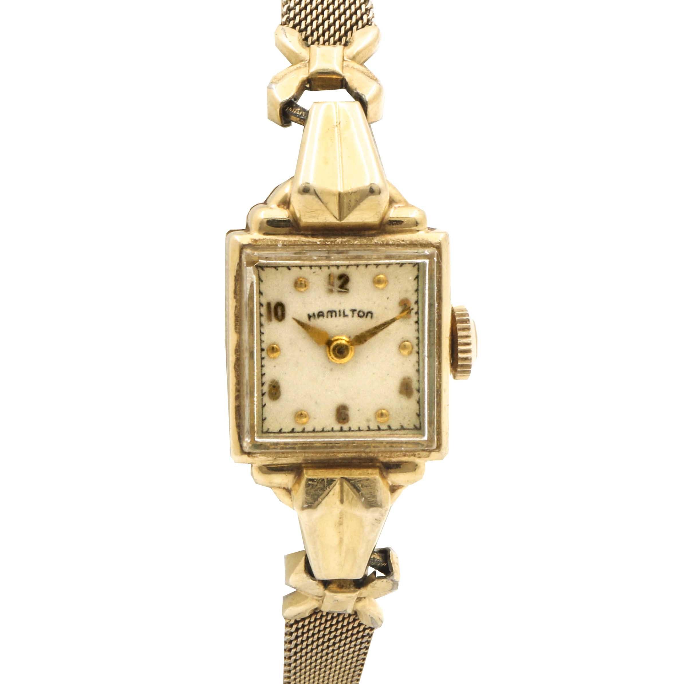Hamilton 14K Yellow Gold Wristwatch