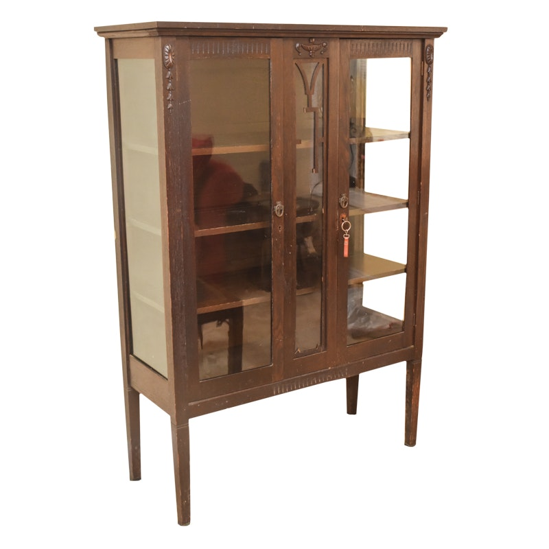 Antique Adams Style China Cabinet