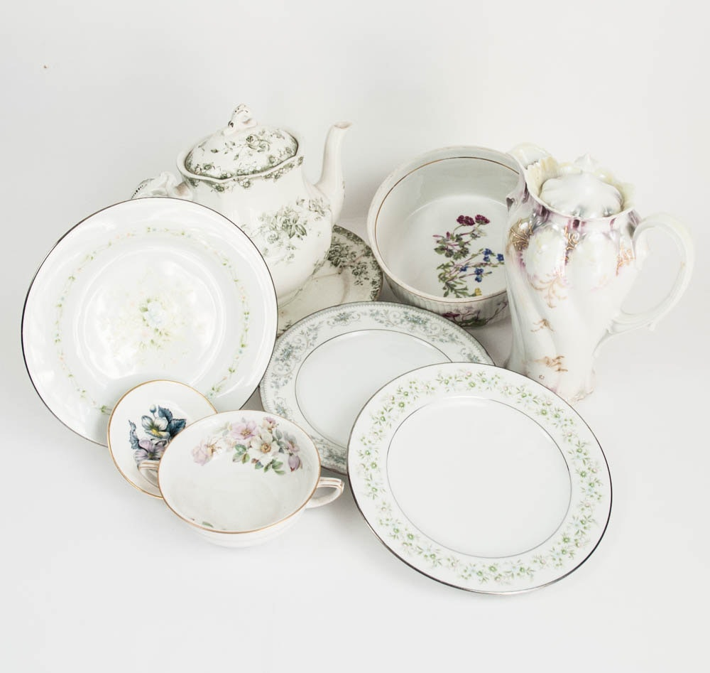 Mismatched Floral China