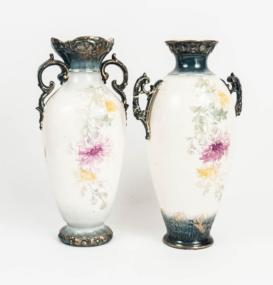 Royal Bonn Mantel Vases