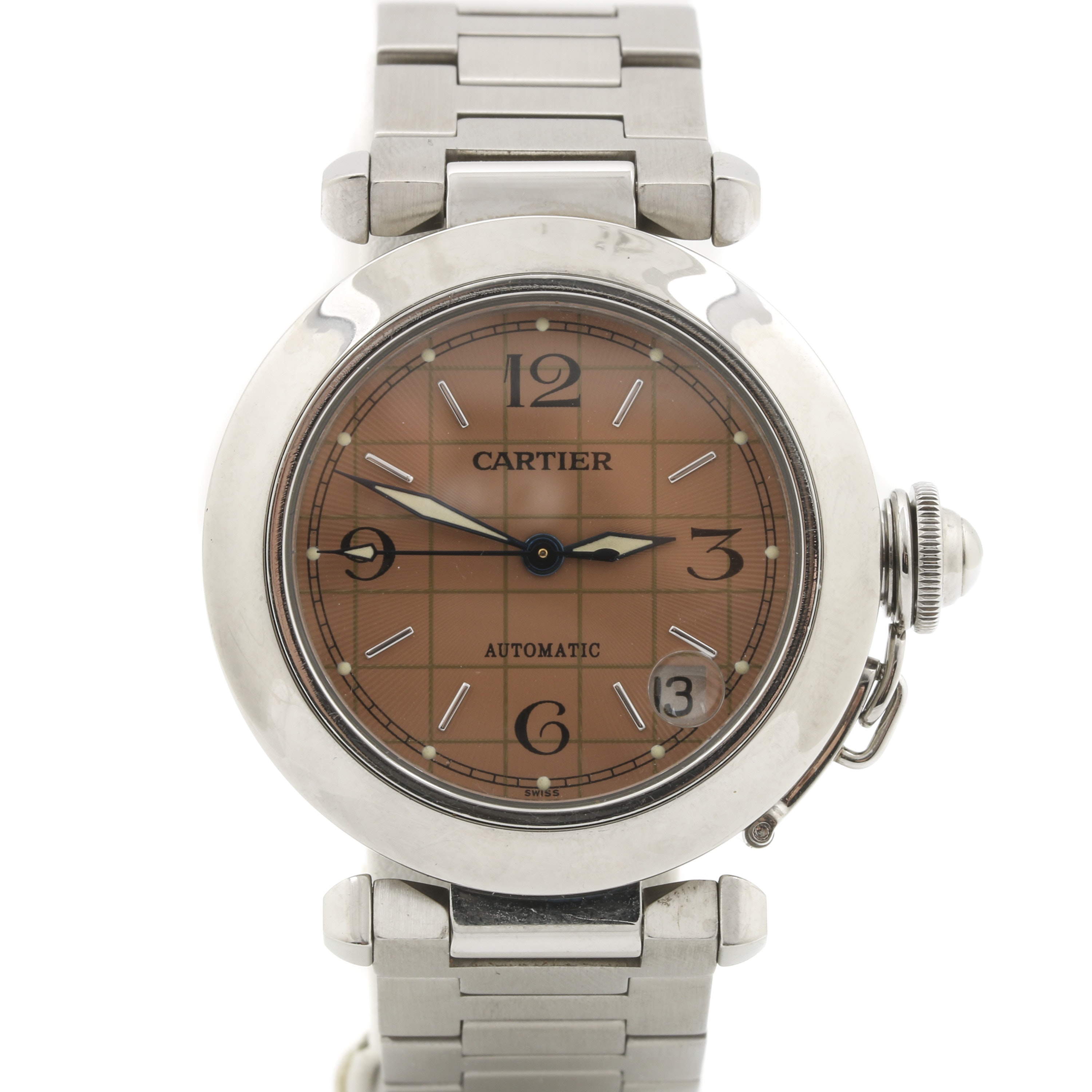 Cartier Pasha Automatic Stainless Steel Wristwatch