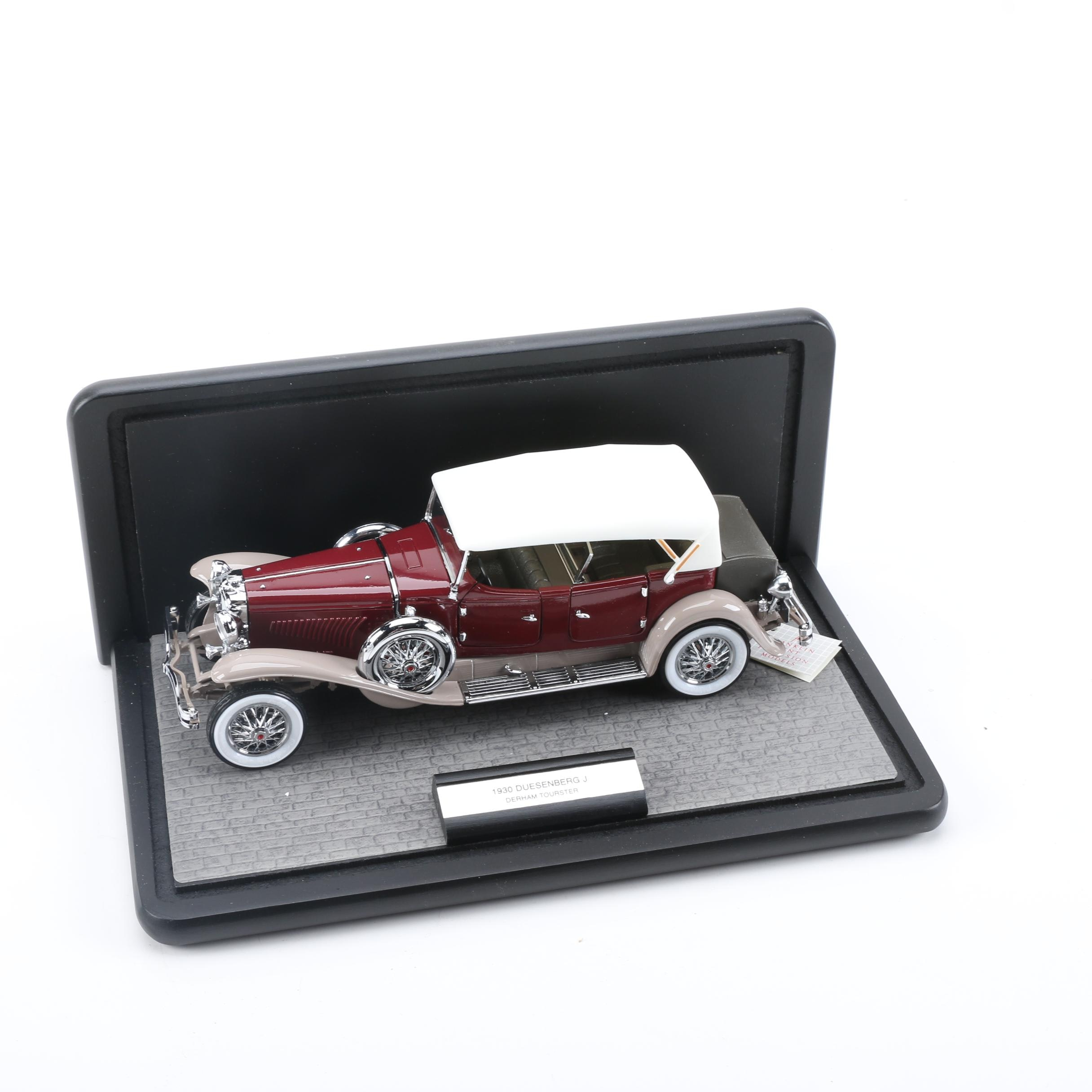 Franklin Mint 1930 Duesenberg J Derham Tourster Die-Cast Car