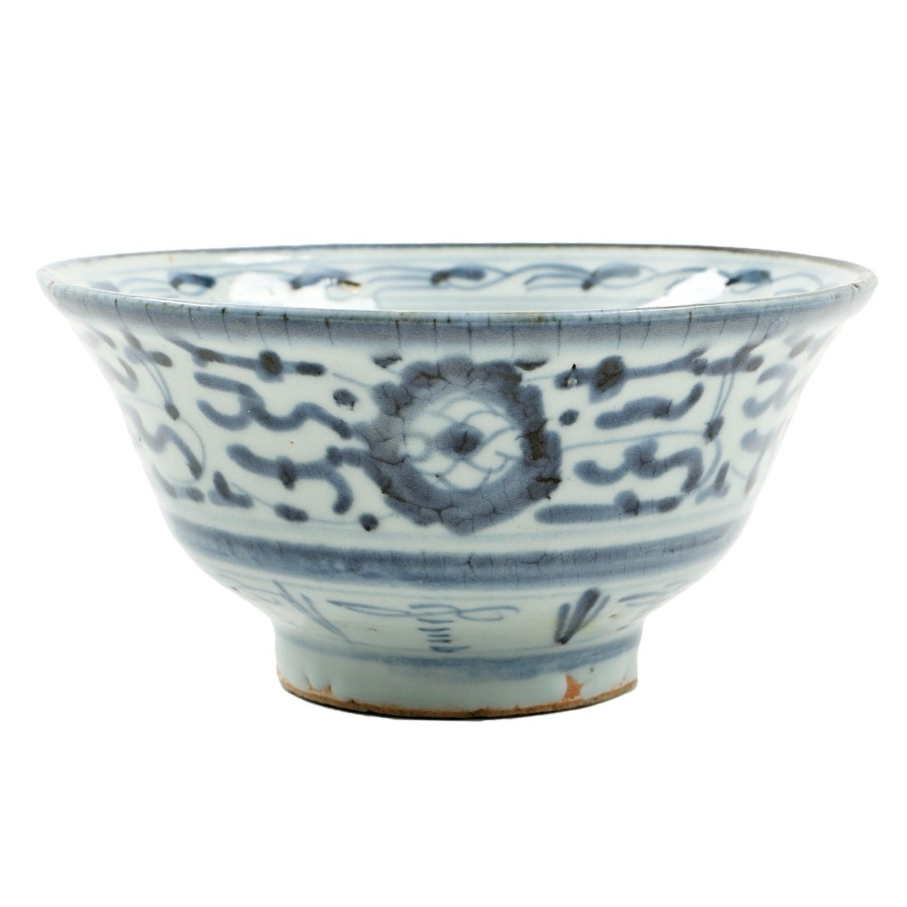 Chinese Qing Dynasty Period Blue and White Porcelain Bowl