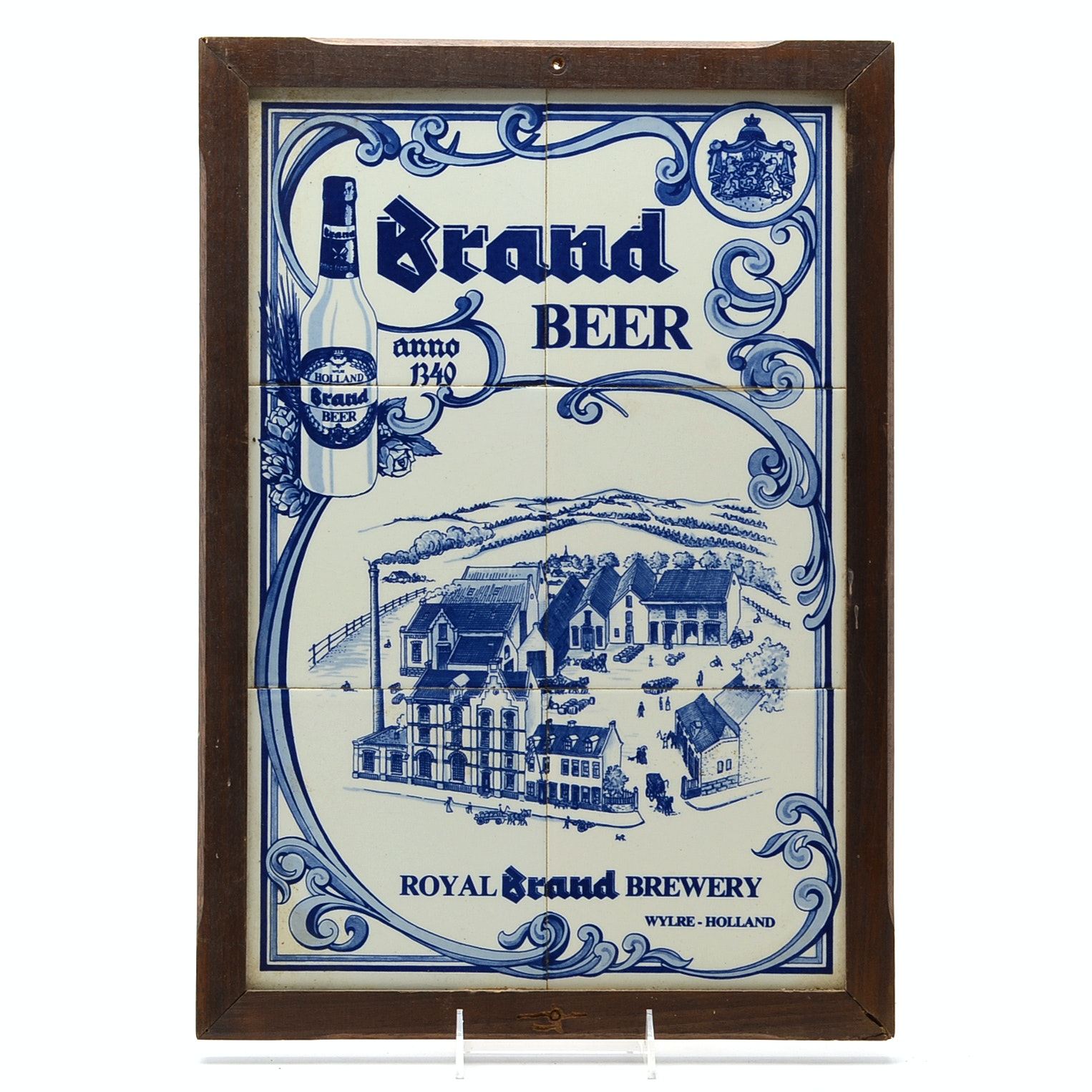 Vintage Royal Brand Brewery Tile Sign