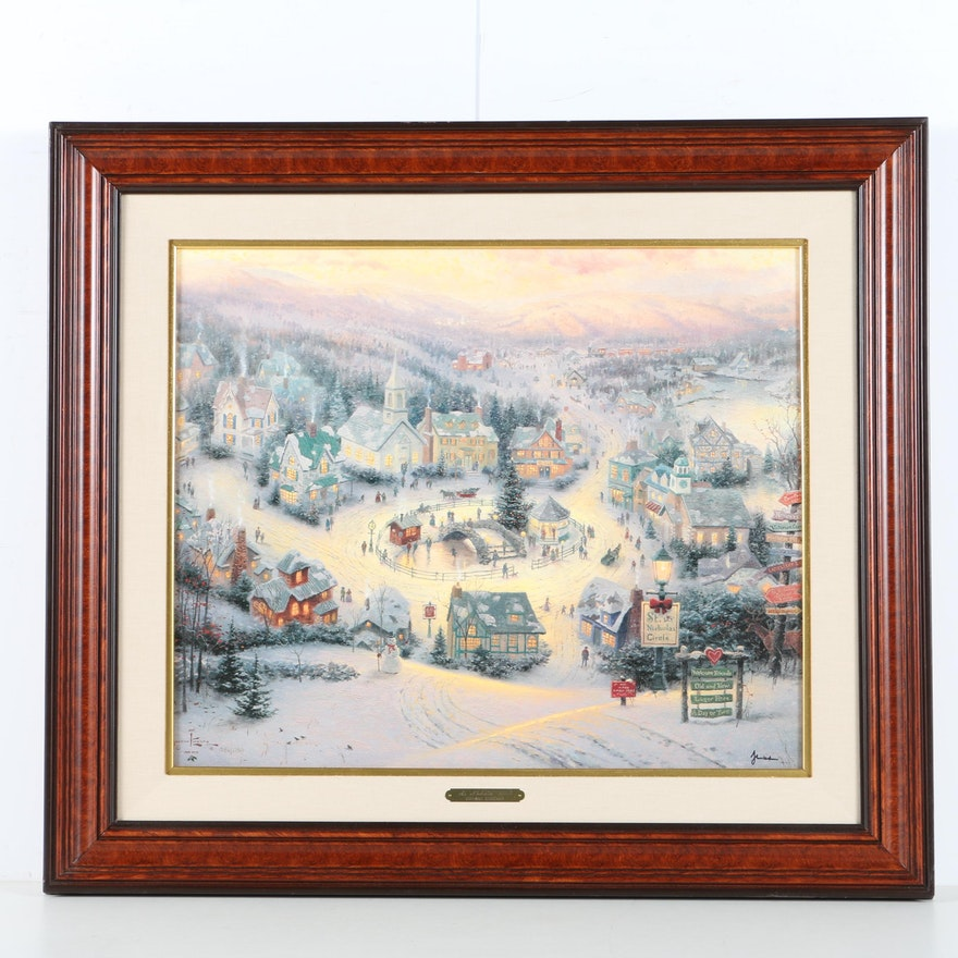 Thomas Kinkade Limited Edition Offset Lithograph on Canvas \
