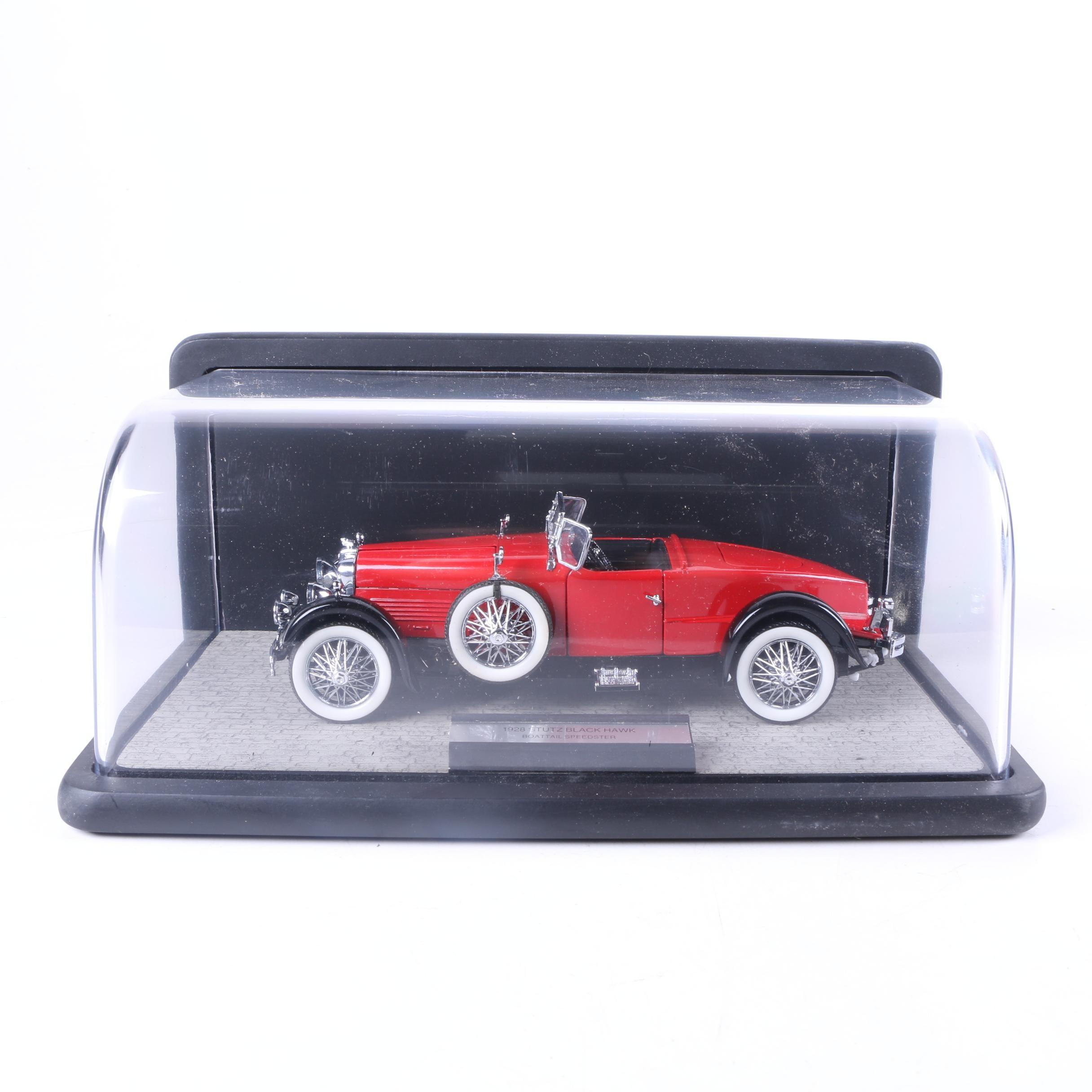 Franklin Mint 1928 Stutz Black Hawk Boattail Speedster Die-Cast Car