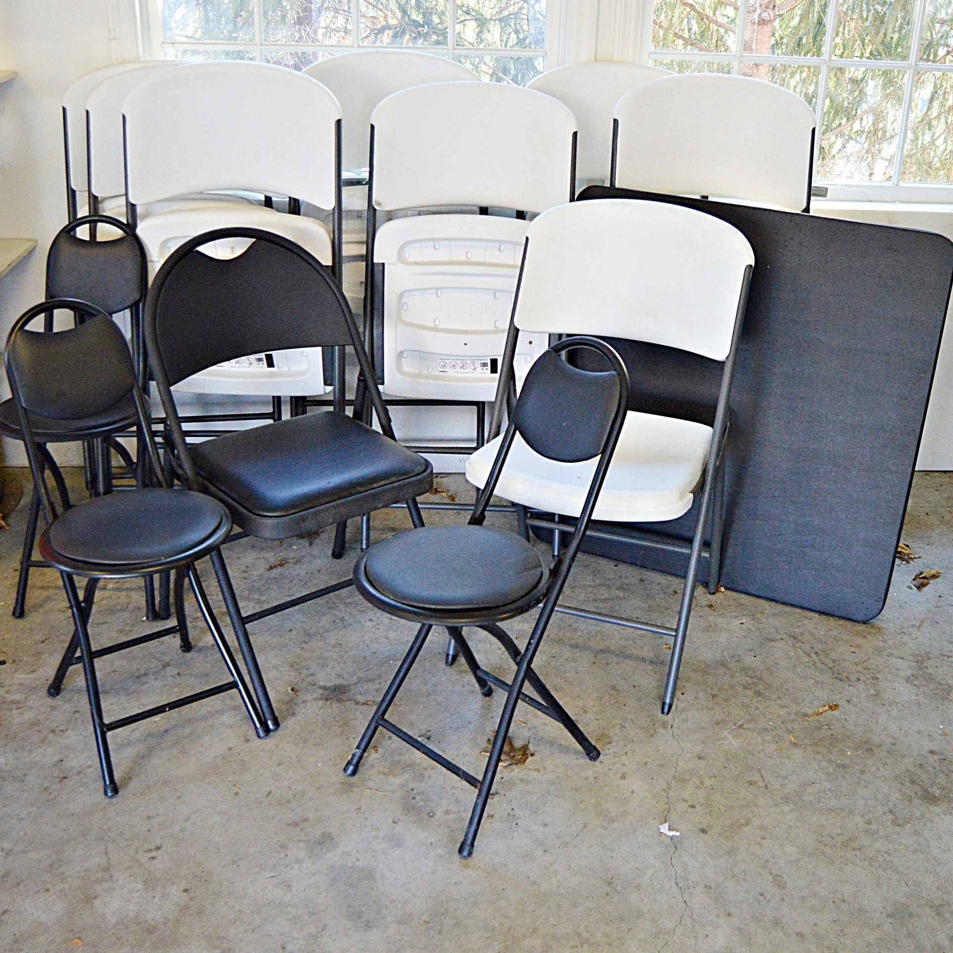 Folding Chair Sets, Card Table and Long Folding Table
