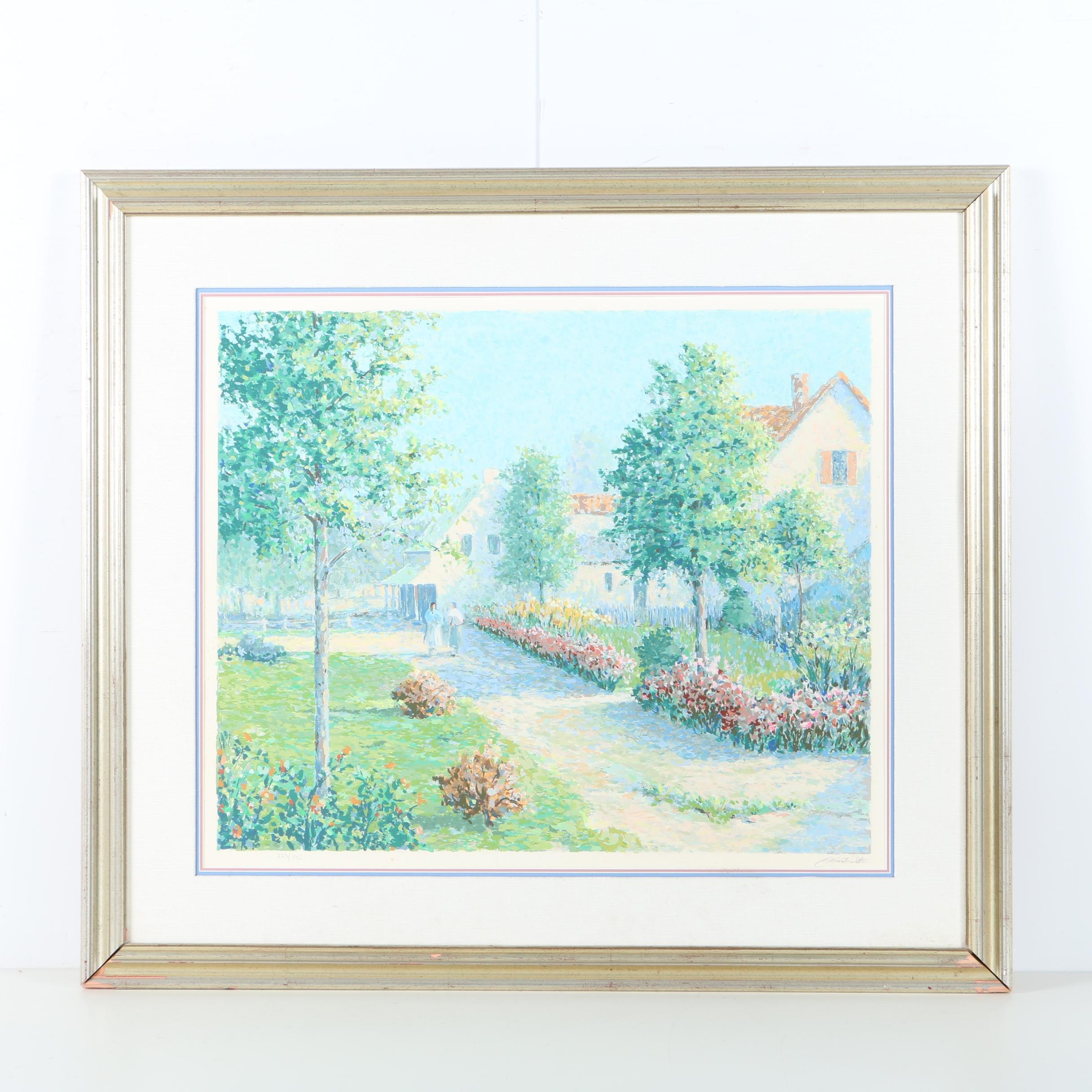 "Christian Title Limited Edition Serigraph ""Garden Path"""