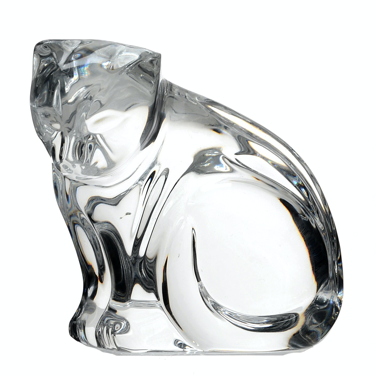 Waterford Crystal Glass Cat Figurine Paperweight