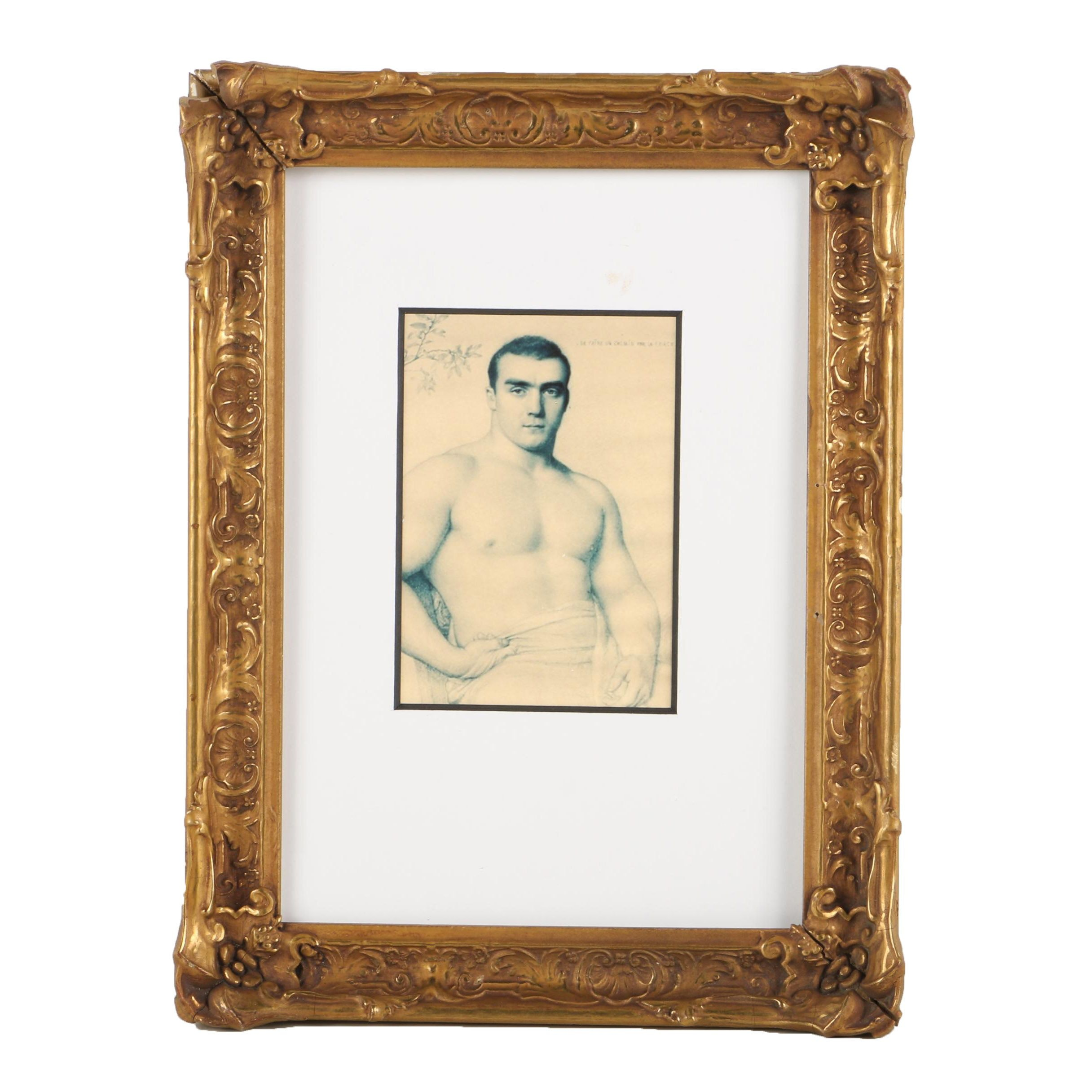 Giclee on Paper of Partially Nude Male