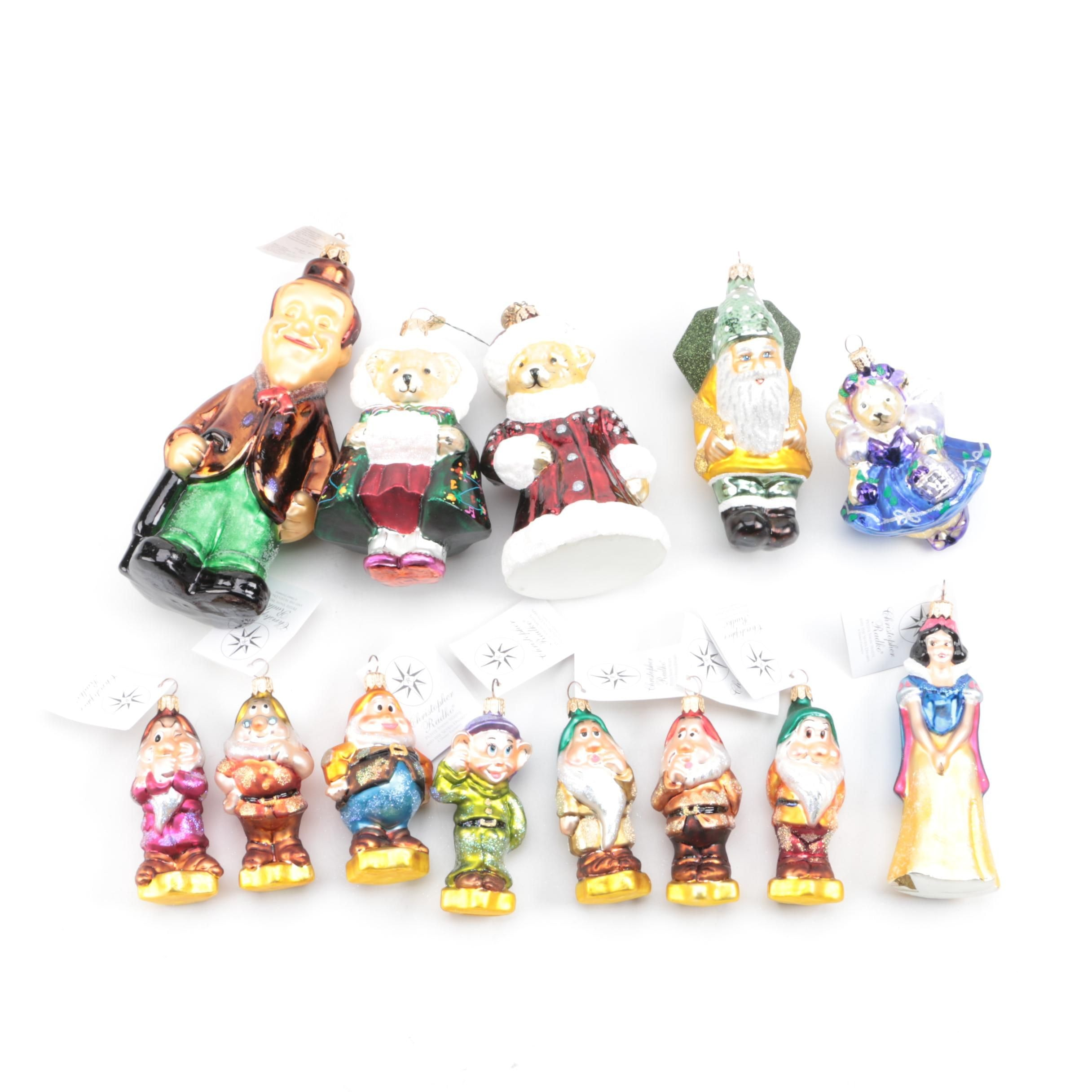 Christopher Radko Hand Painted Glass Christmas Ornaments
