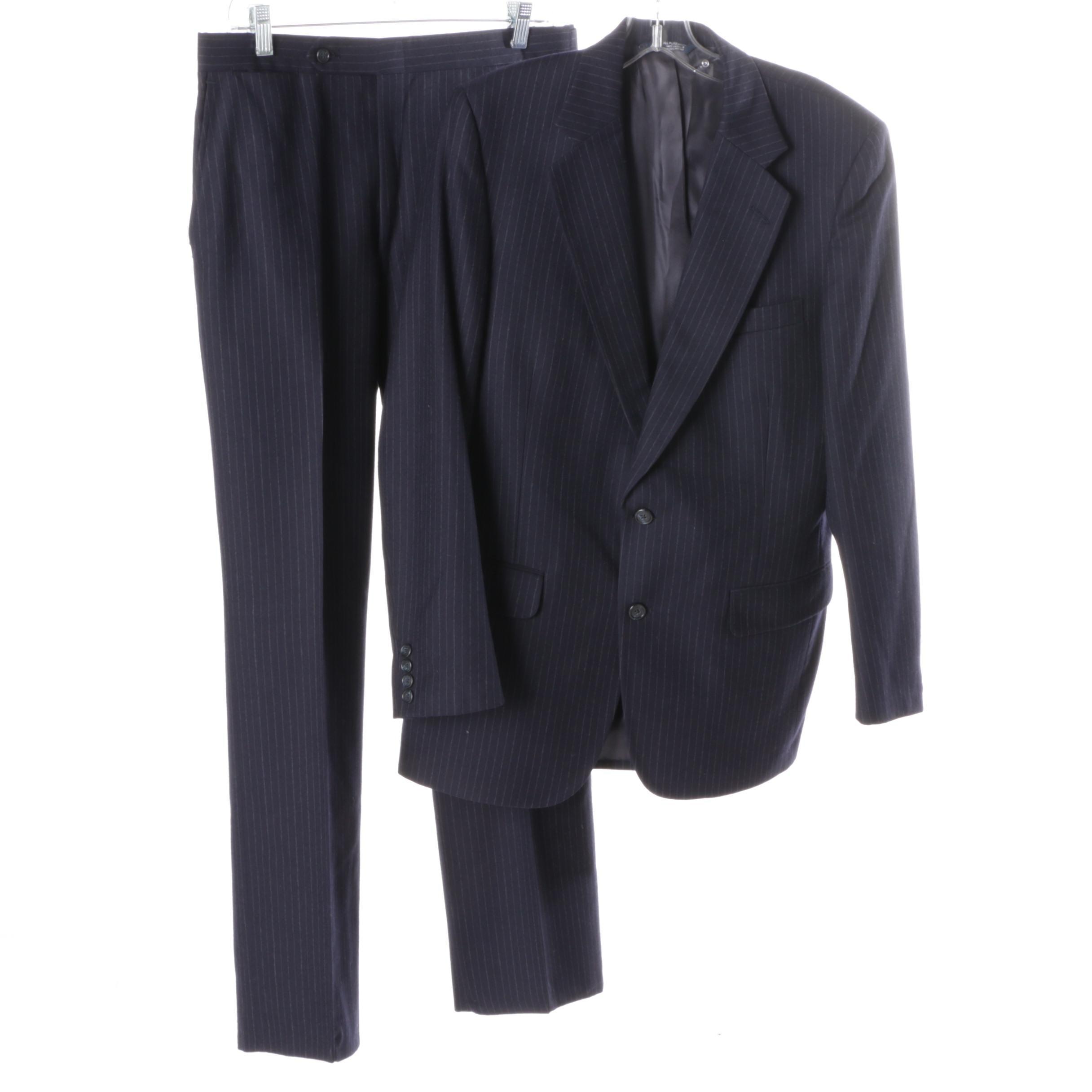 Men's Burberrys Wool Pinstripe Suit