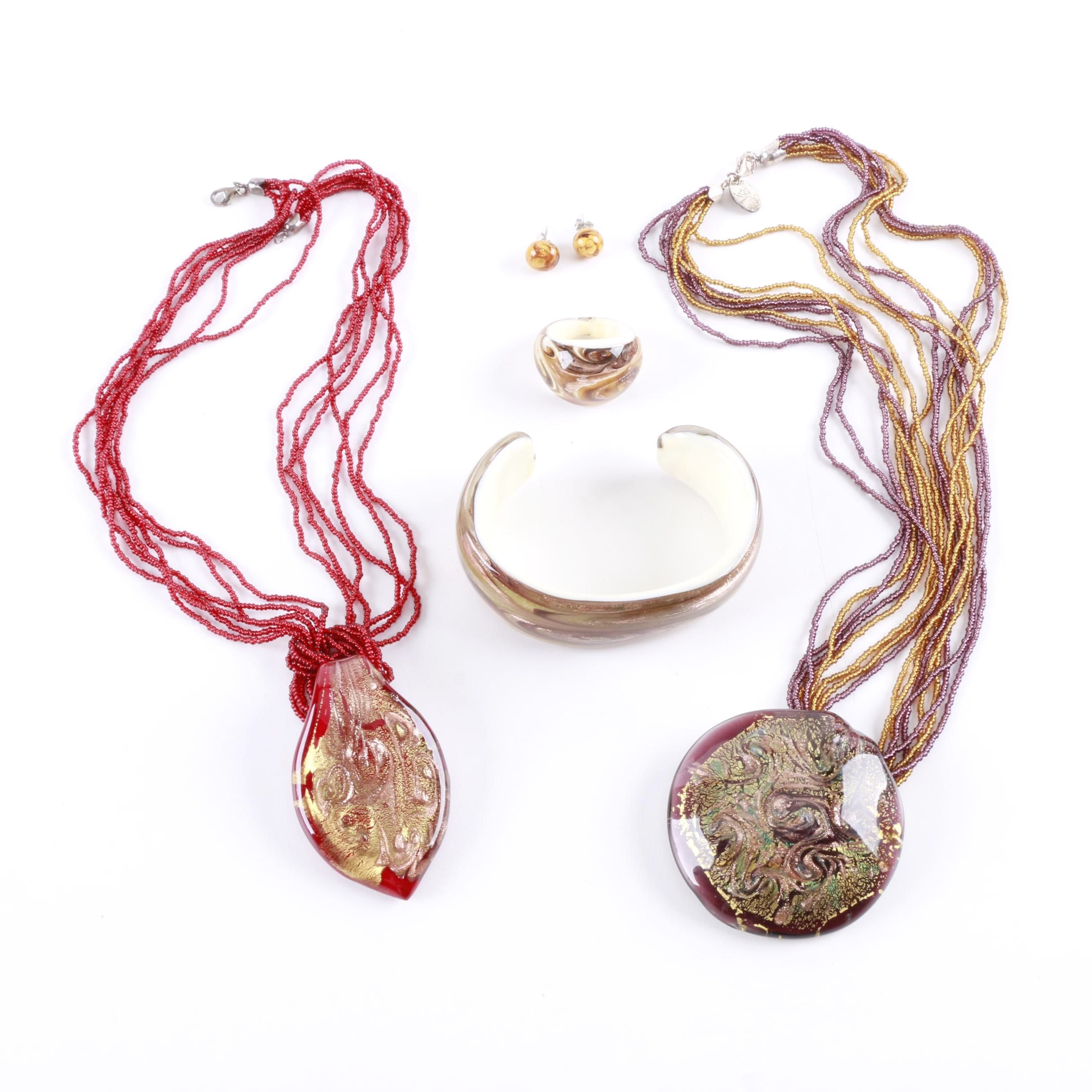 Venetiaurum Sterling Silver Jewelry Featuring Murano Glass