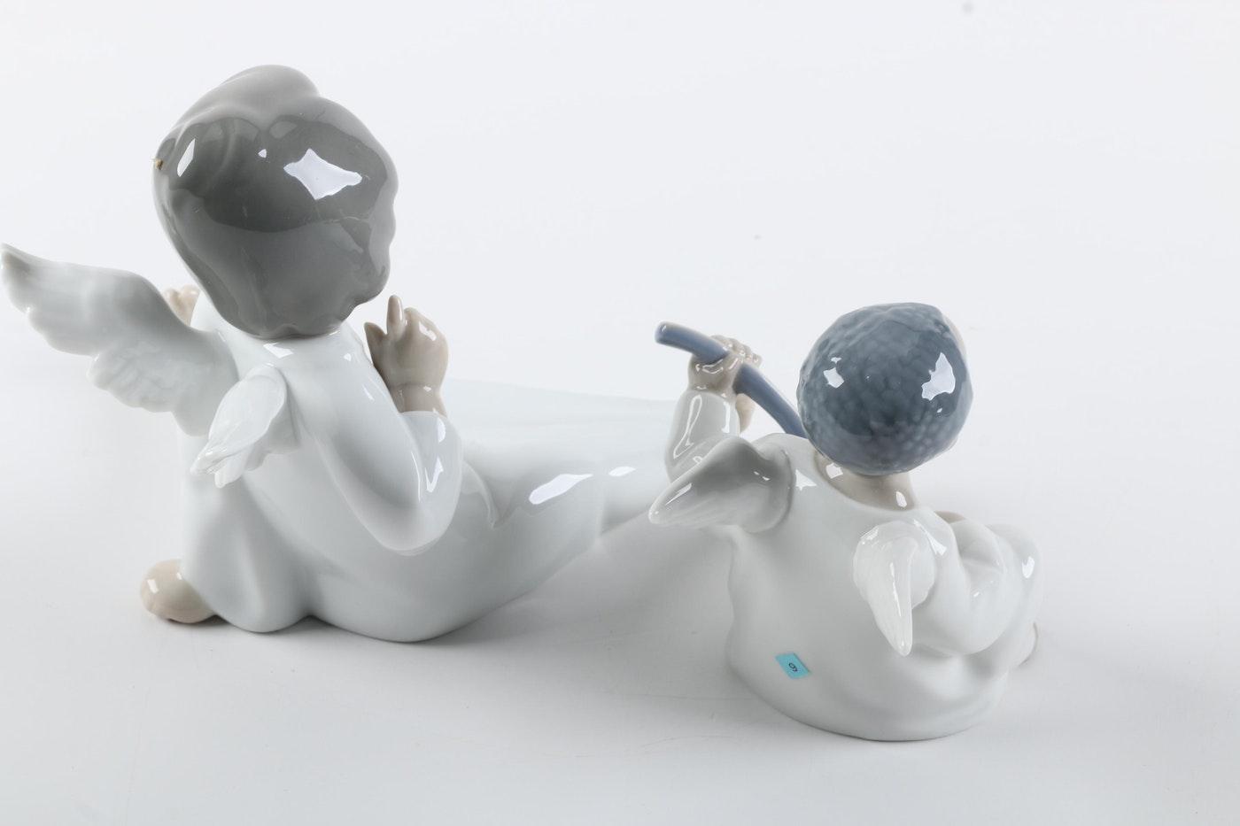 Lladr porcelain cupid figurines ebth - Consider including lladro porcelain figurines home decoration ...