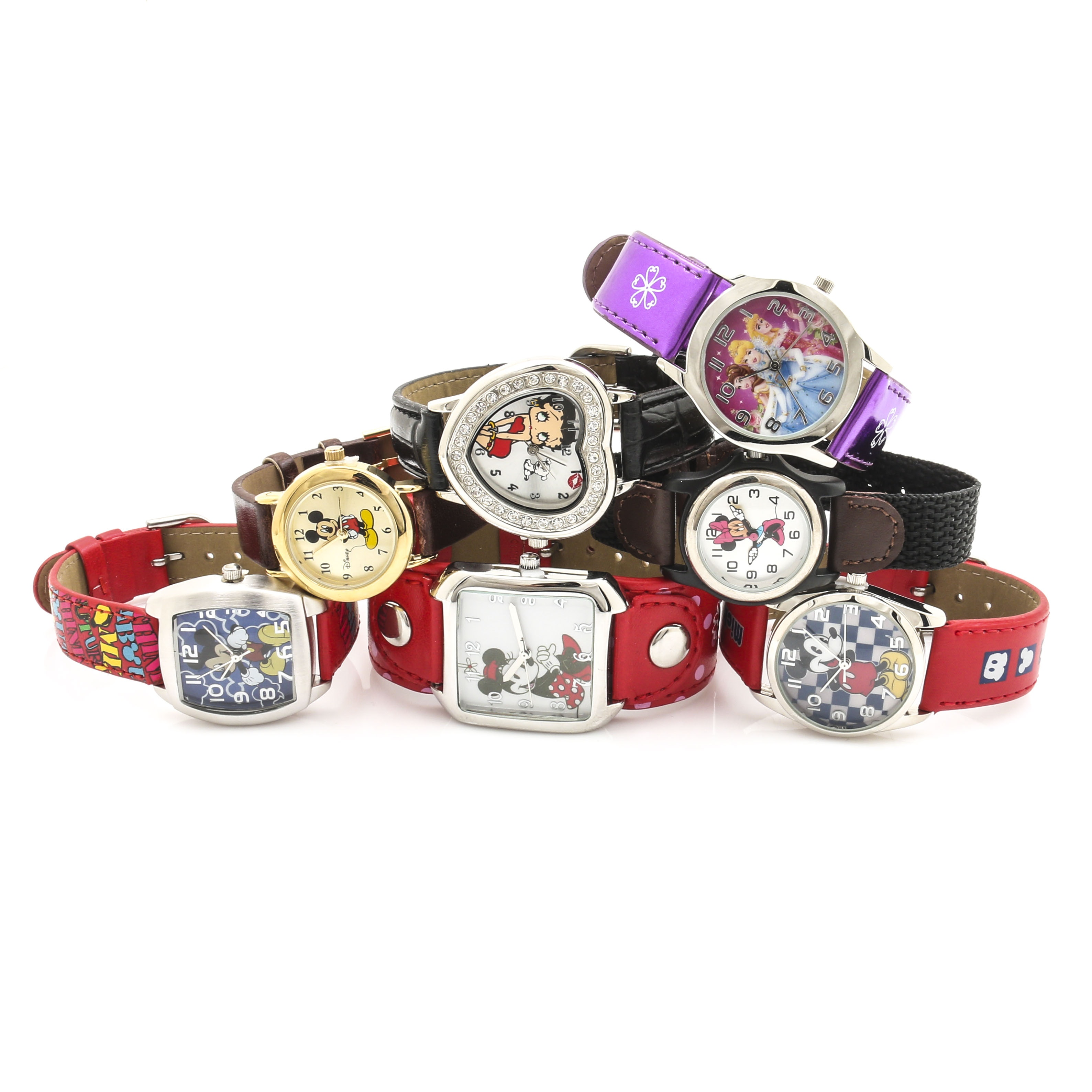 Assortment of Character Wristwatches Featuring Disney