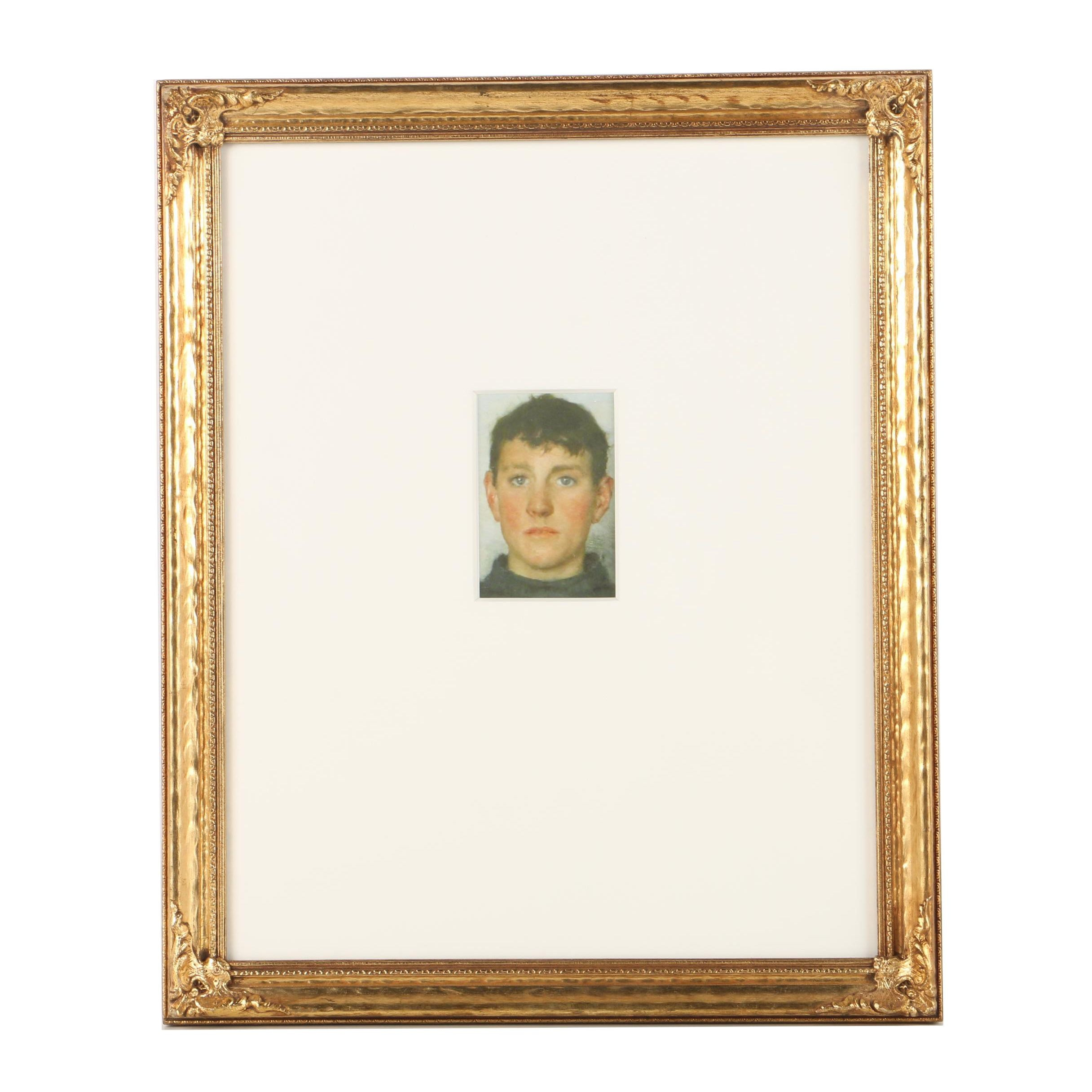"Henry Scott Tuke Reproduction Print on Paper ""Portrait of Jack Rolling"""
