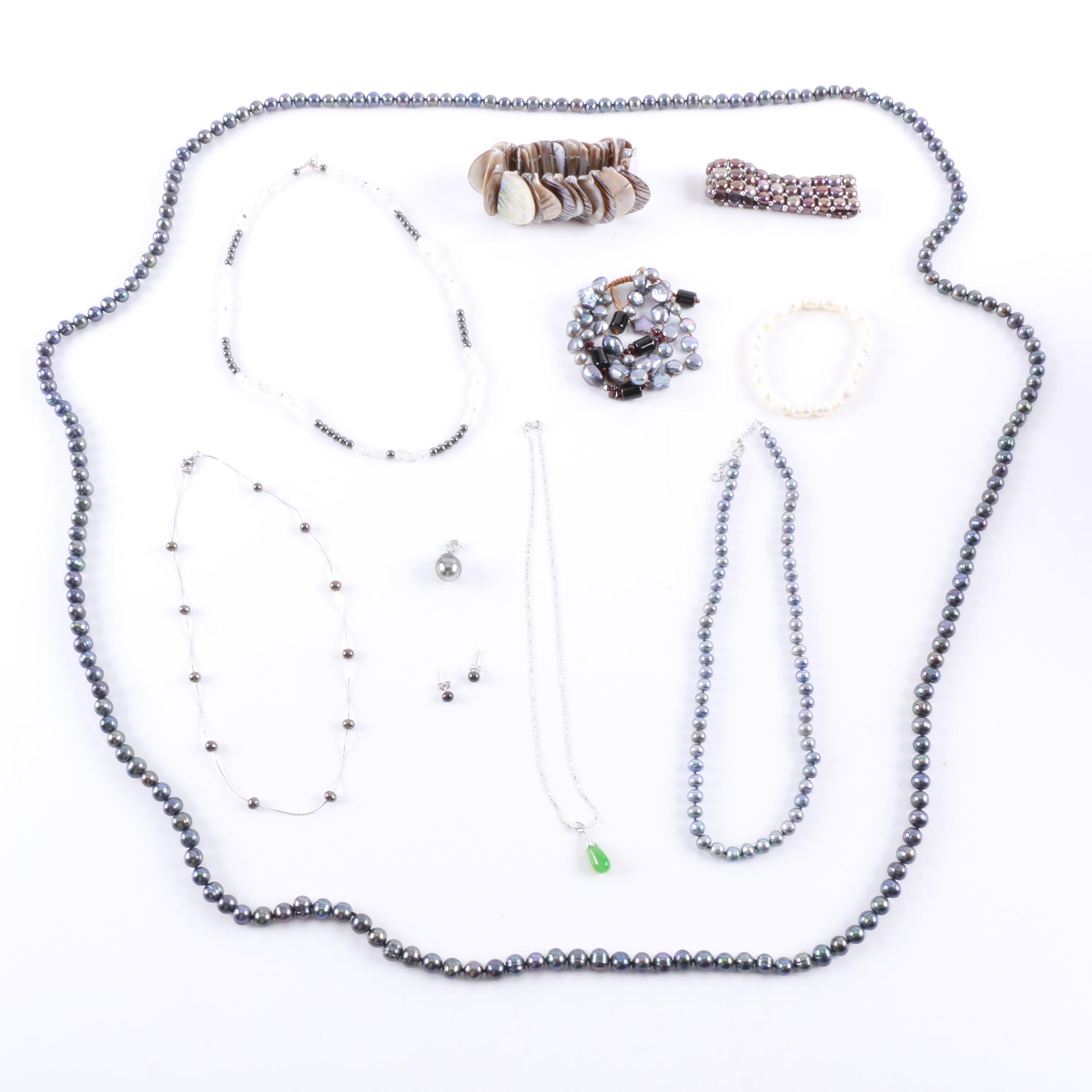 Grouping of Jewelry Including Sterling Silver and Costume