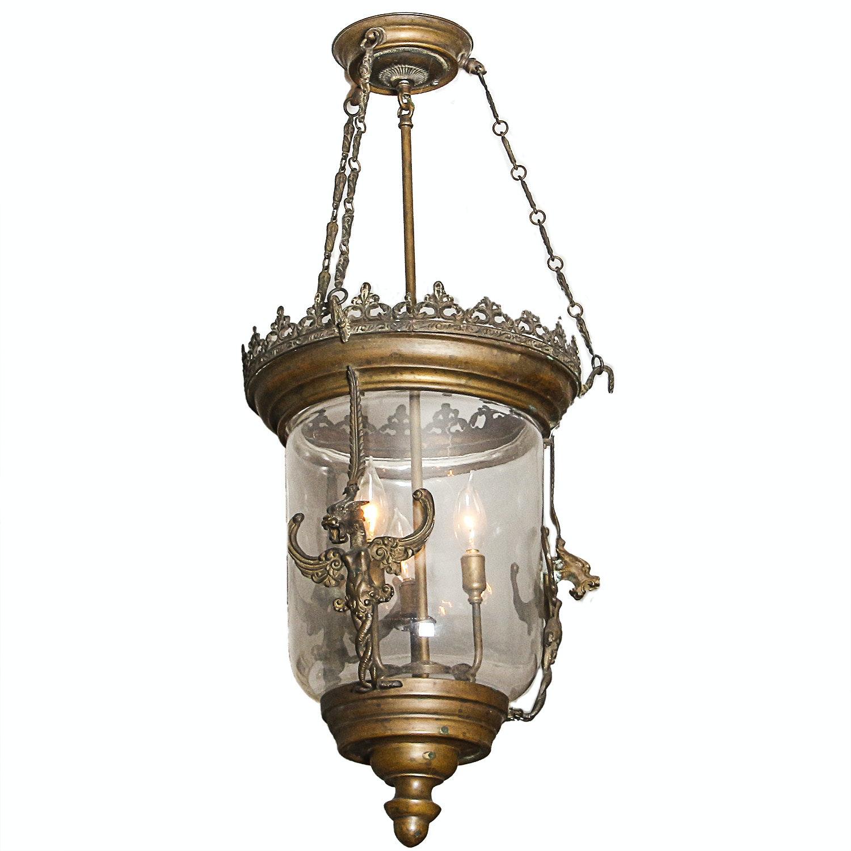 Glass Pendant Lantern Dragon Chandelier