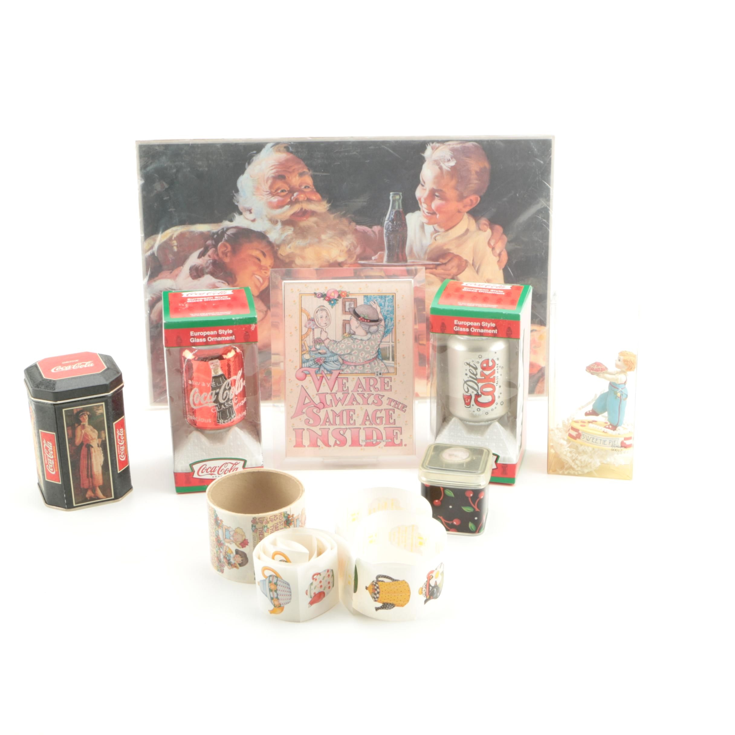 Varied Collection Featuring Mary Engelbreit and Coca Cola