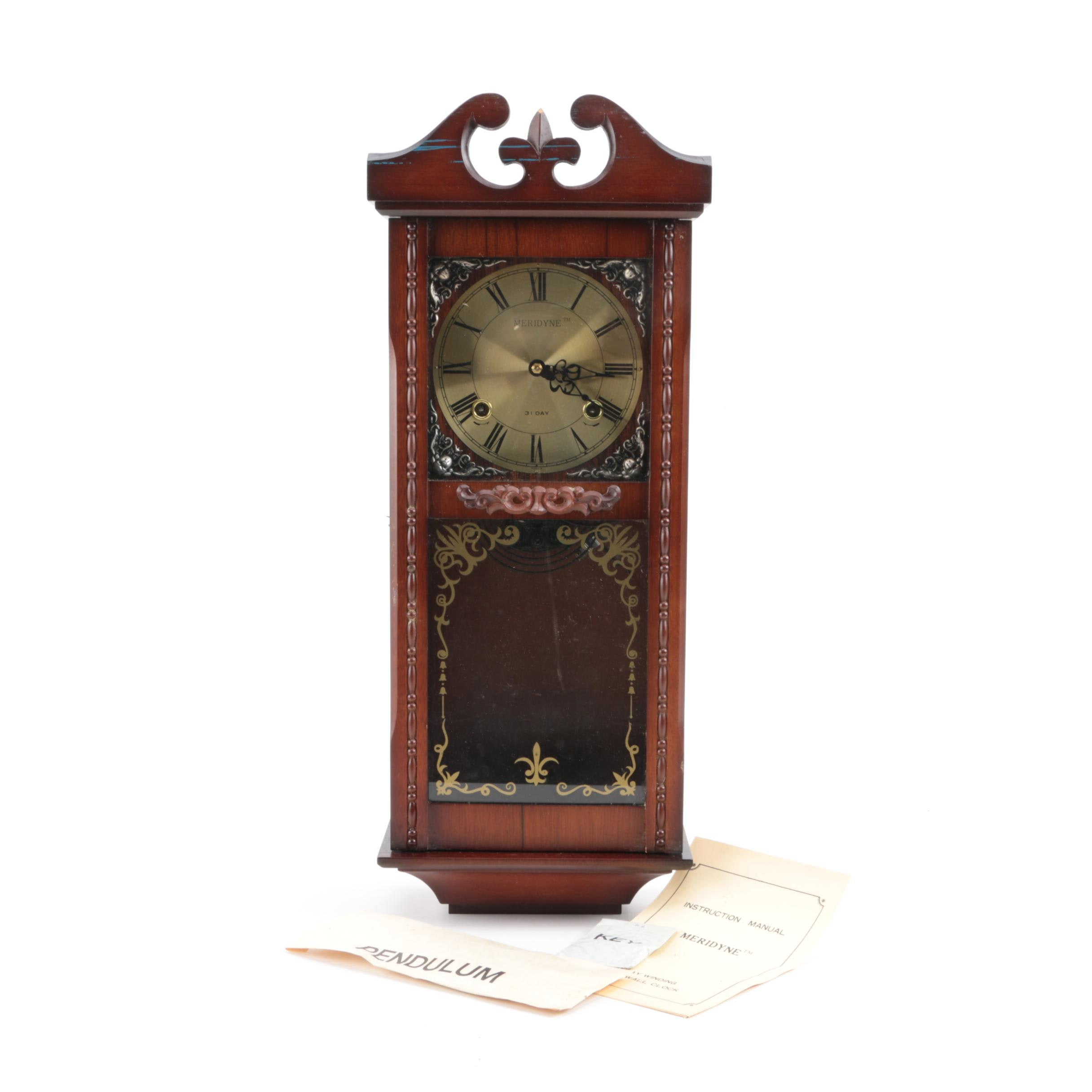 Meridyne 31 Day Winding Chime Wall Clock