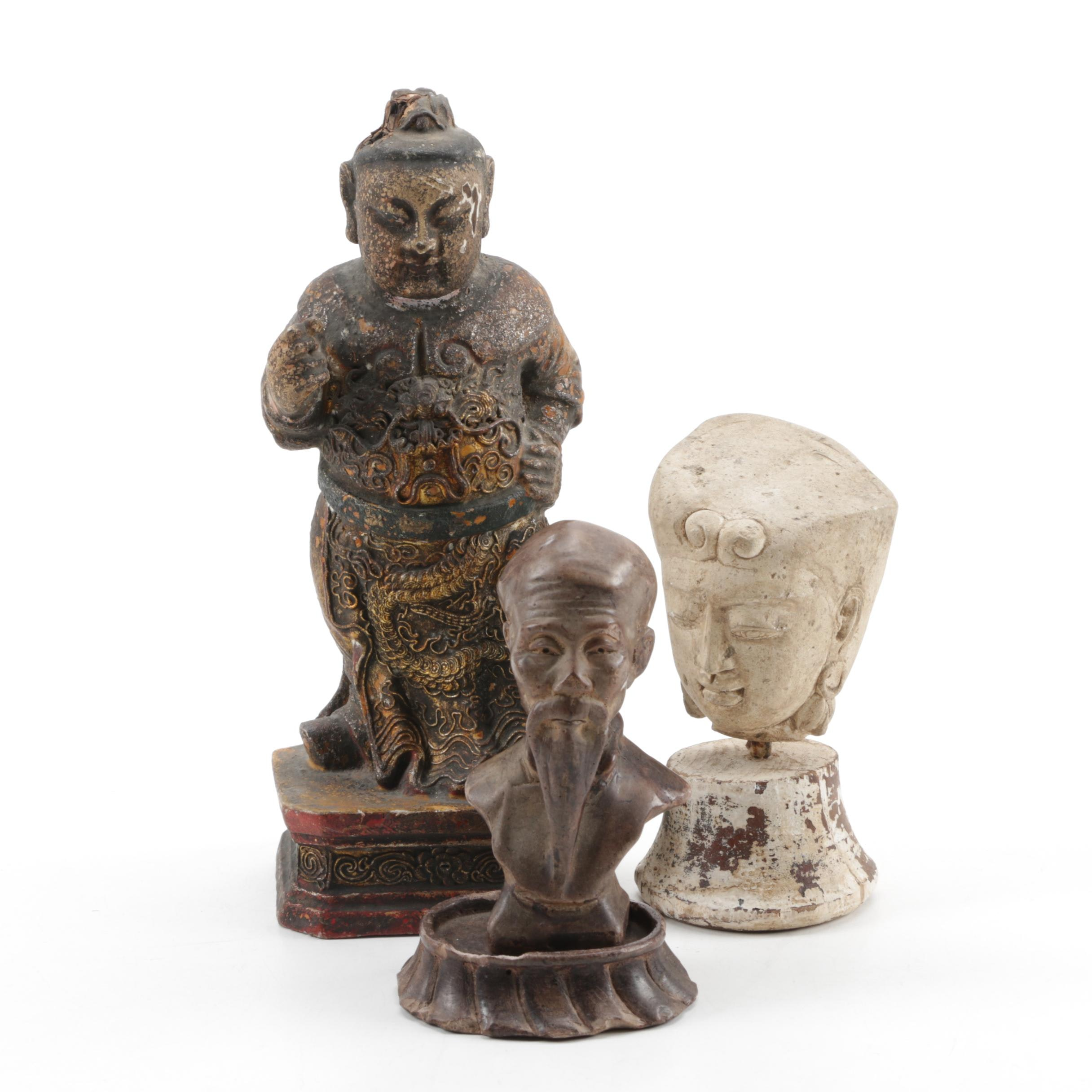 Asian Inspired Sculptures and Busts
