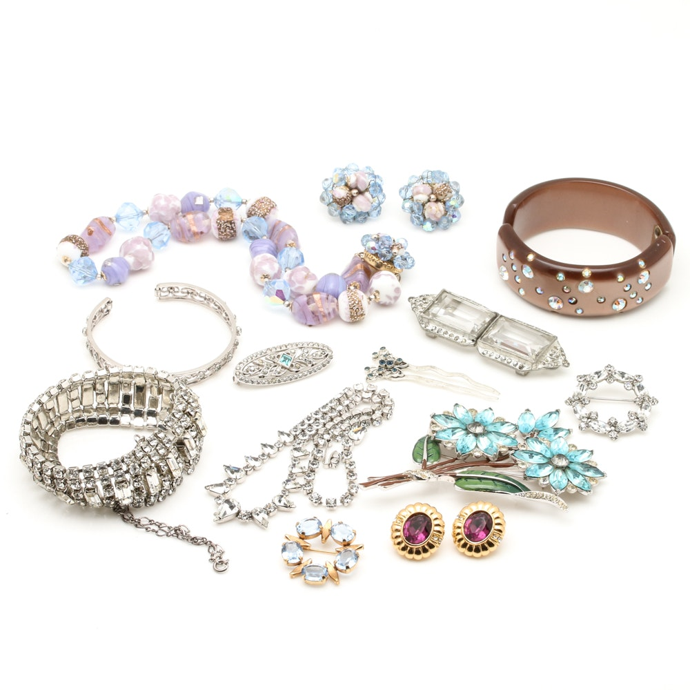 Collection of Vintage Jewelry Including Vendome, Weiss, and More