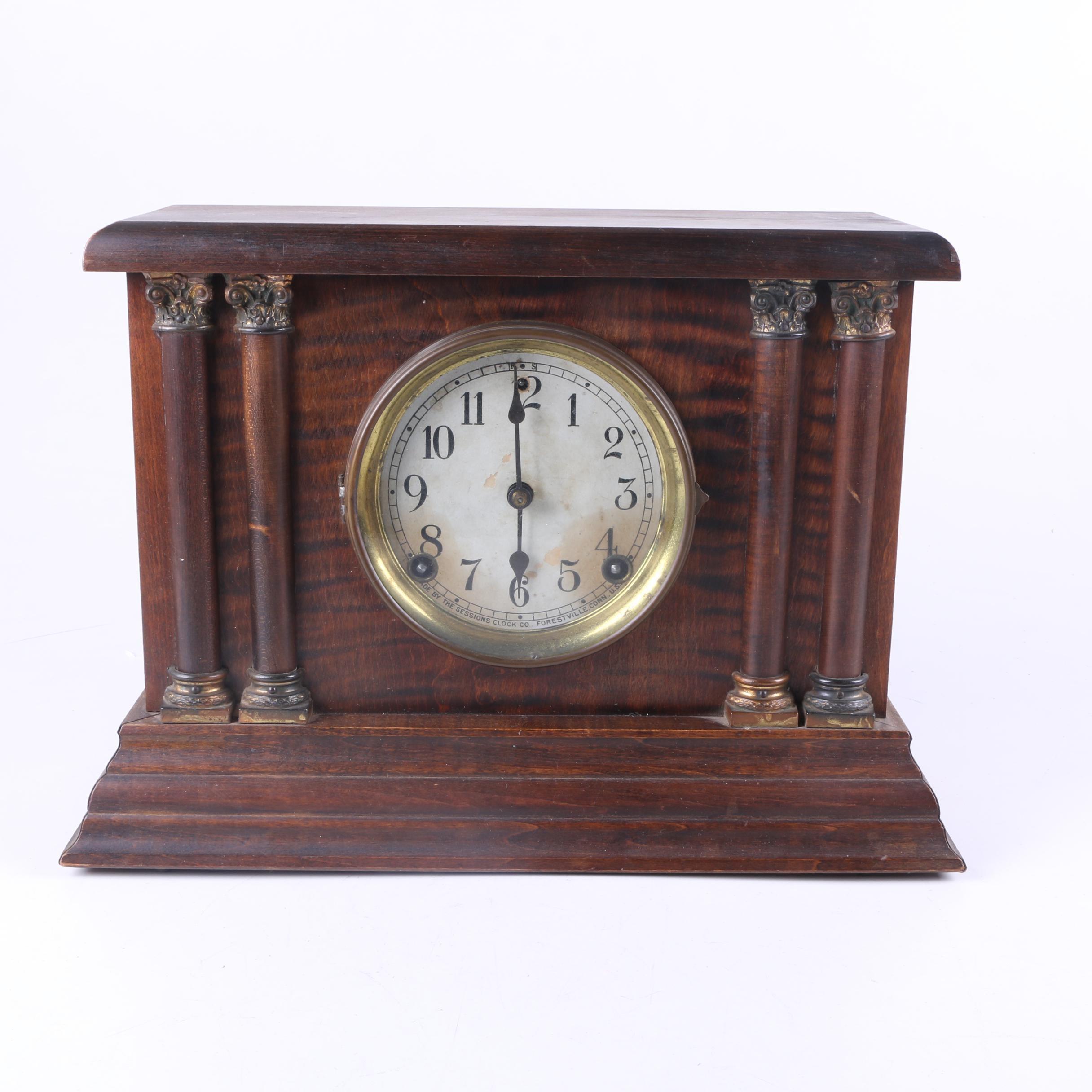 Vintage Sessions Pillar Style Mantel Clock