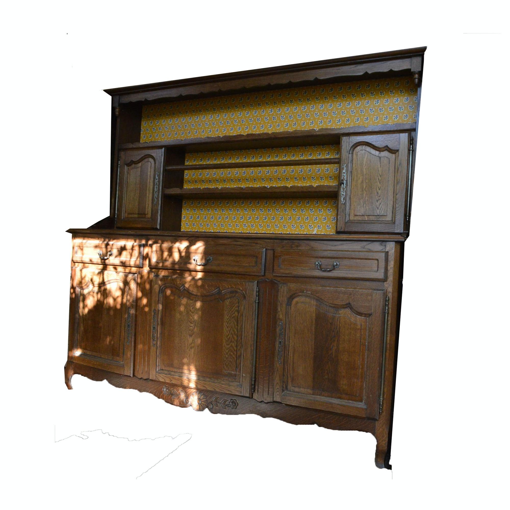 Vintage French Provincial Oak Cupboard