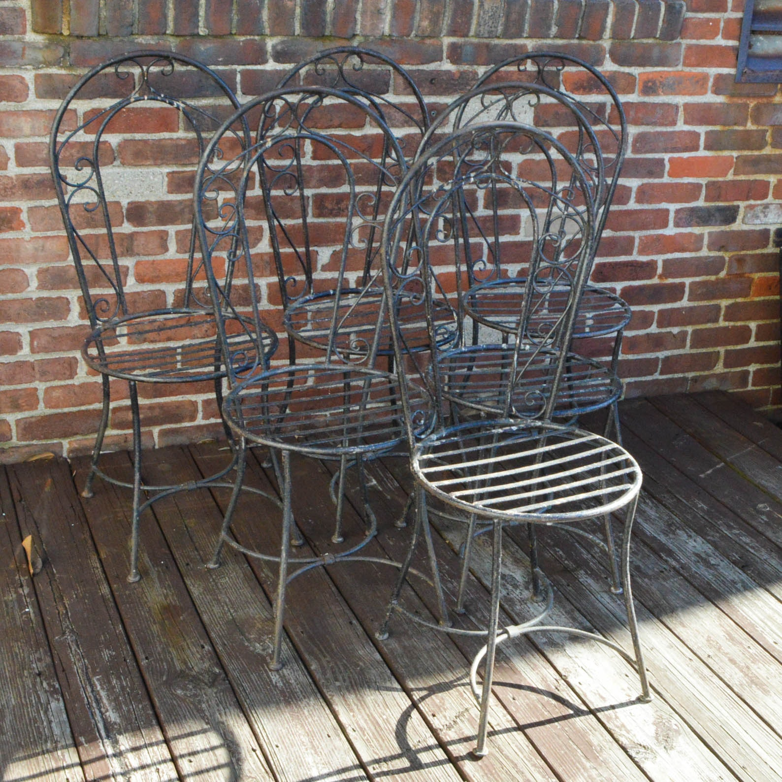 French Wrought Iron Bistro Chairs ...