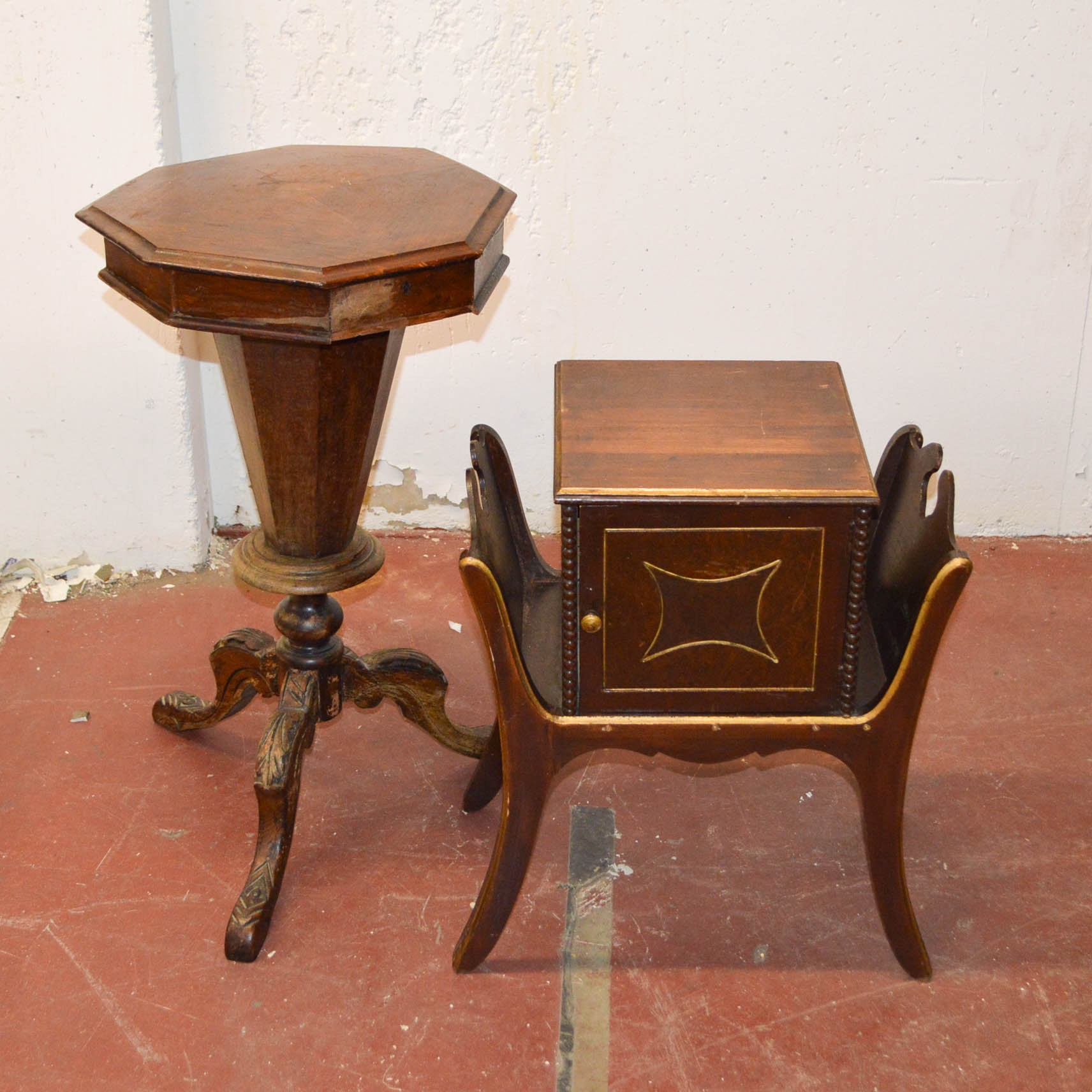 Antique European Sewing Stand