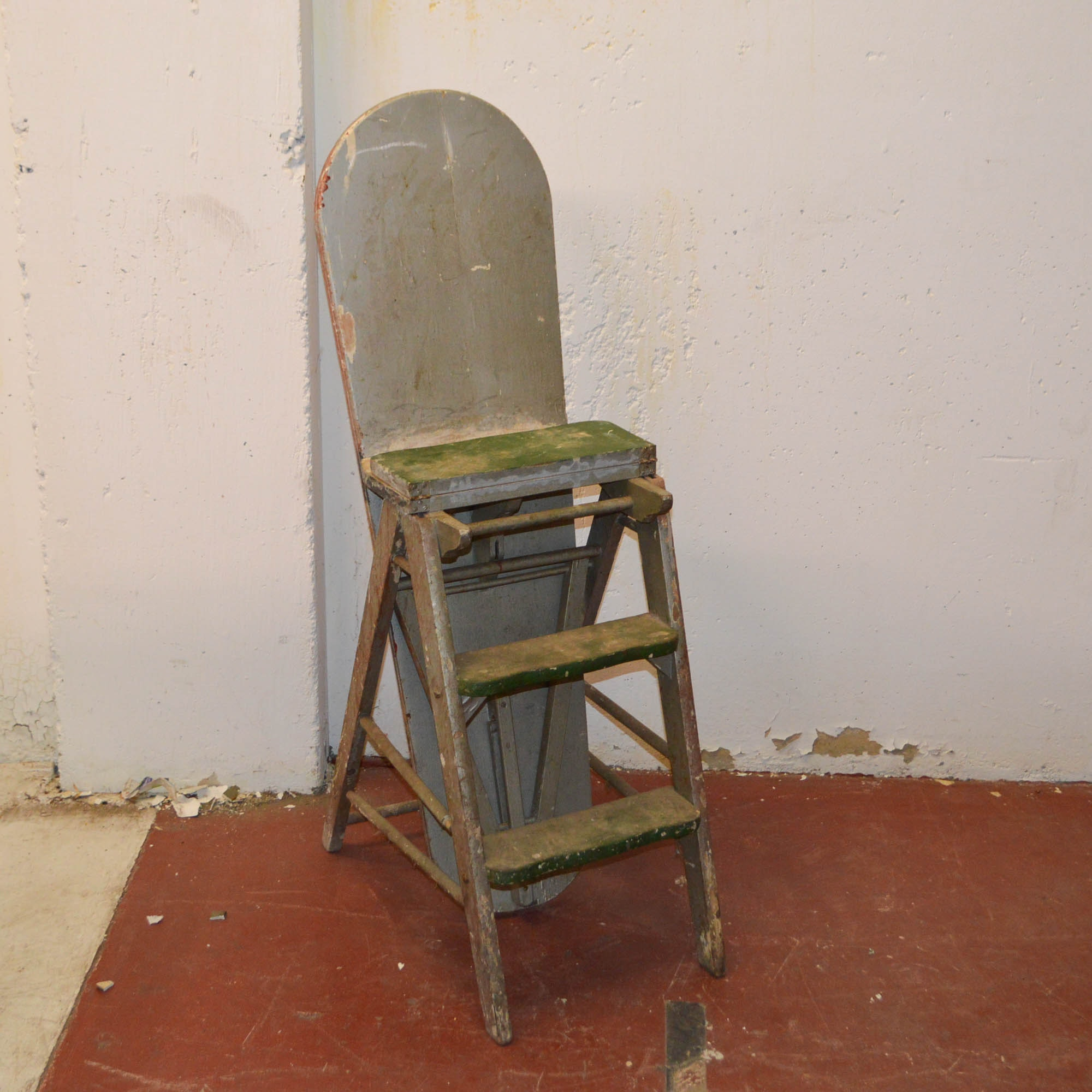 Vintage Convertible Ironing Board Step Stool