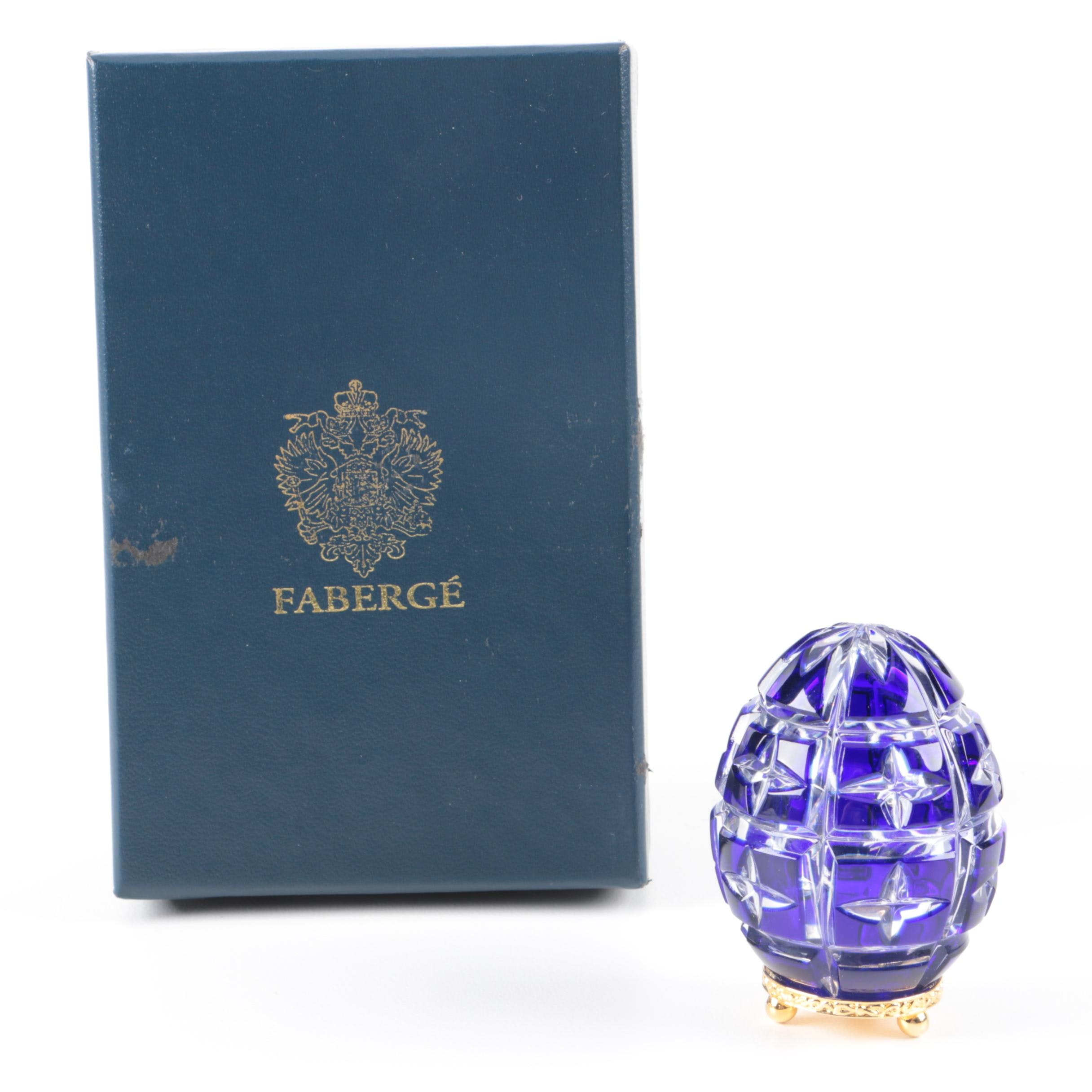 Faberge Crystal Egg Paperweight