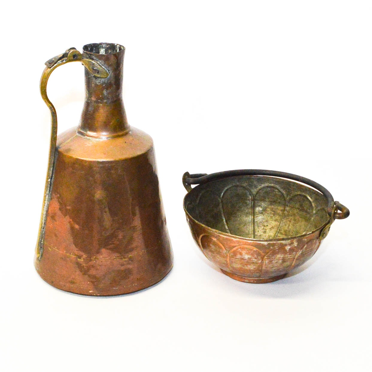Copper Kettle and Pitcher