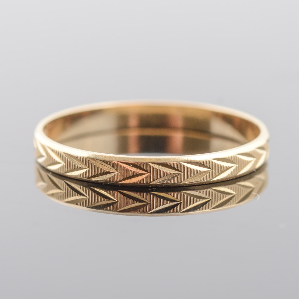 Milor 14K Yellow Gold Band