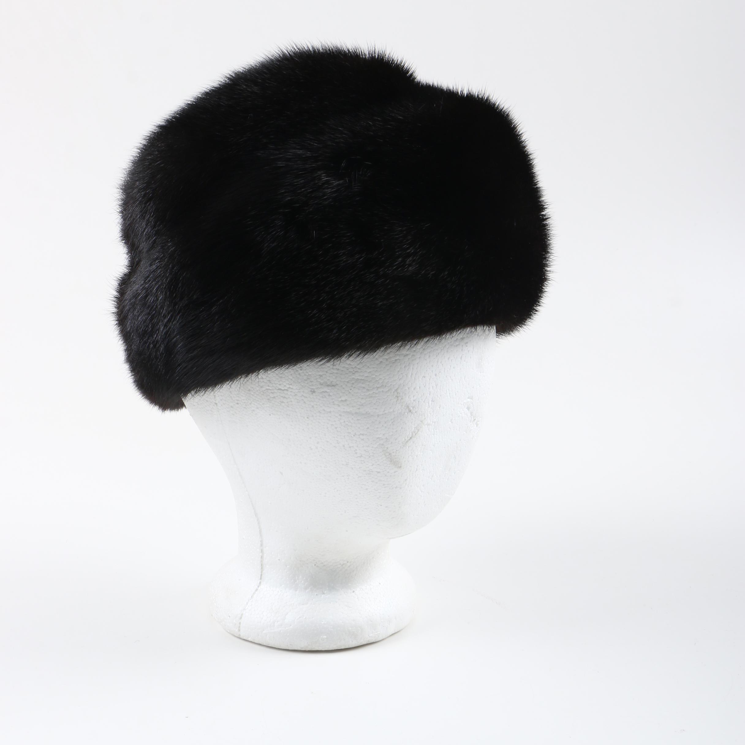 Women's Black Mink Fur Hat