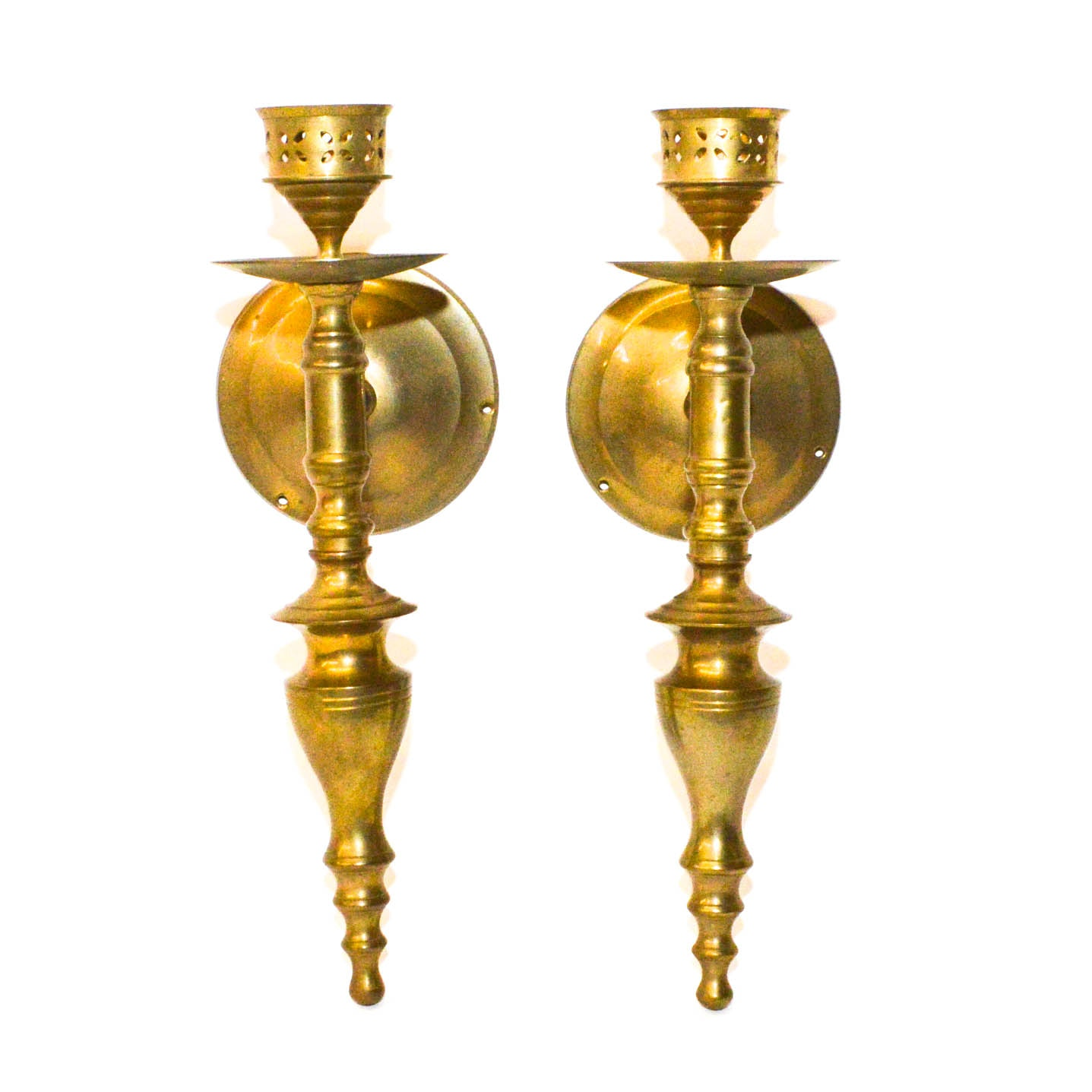 PRIORITY-Pair of Brass Candle Sconces