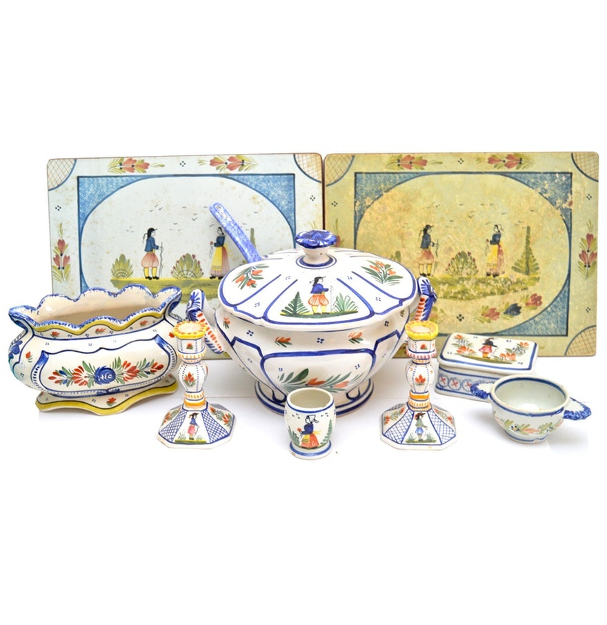 Henriot Quimper French Tableware